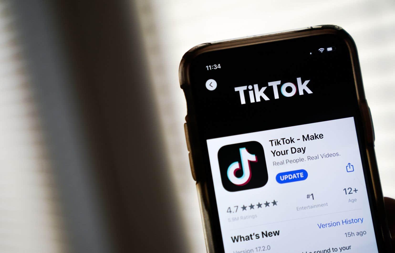 Près de 100millions d'Américains utiliseraient le réseau TikTok.