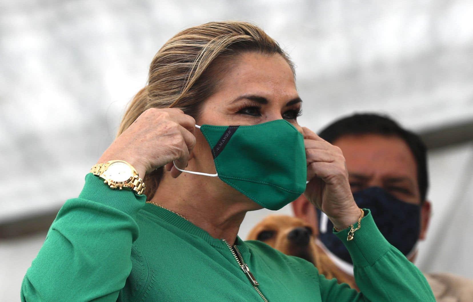 La présidente intérimaire, Jeanine Añez