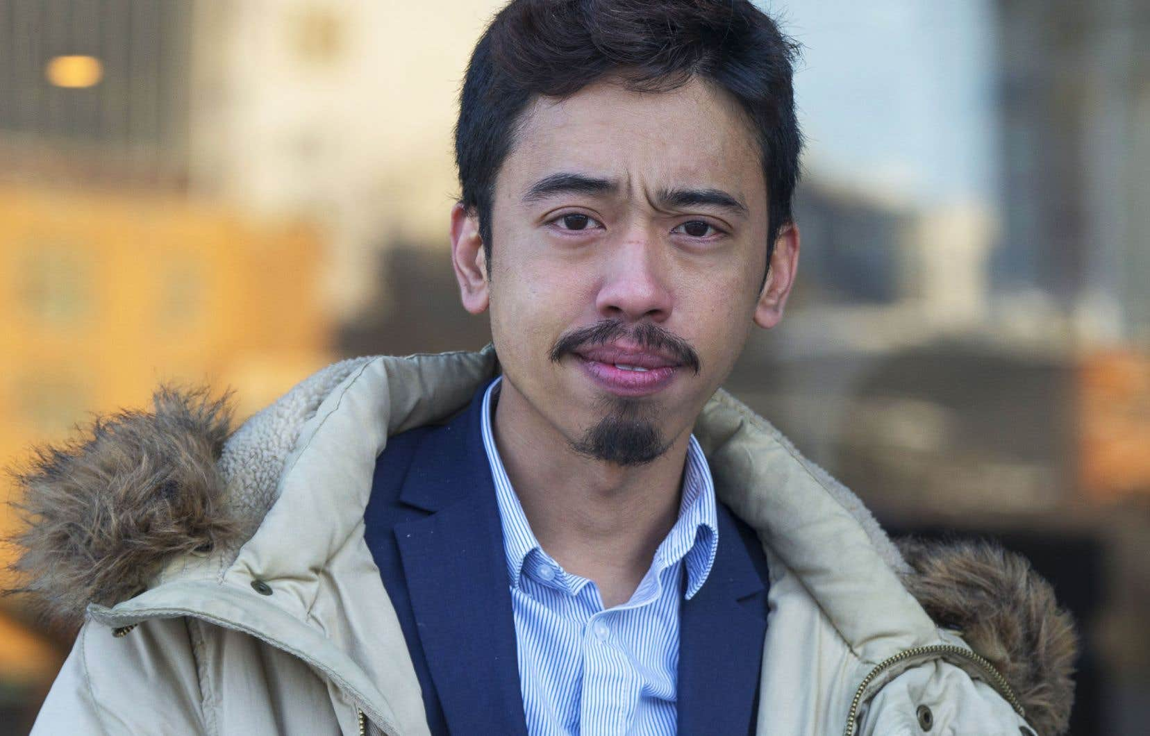 Michaël Nguyen, président de la FPJQ, en novembre 2019