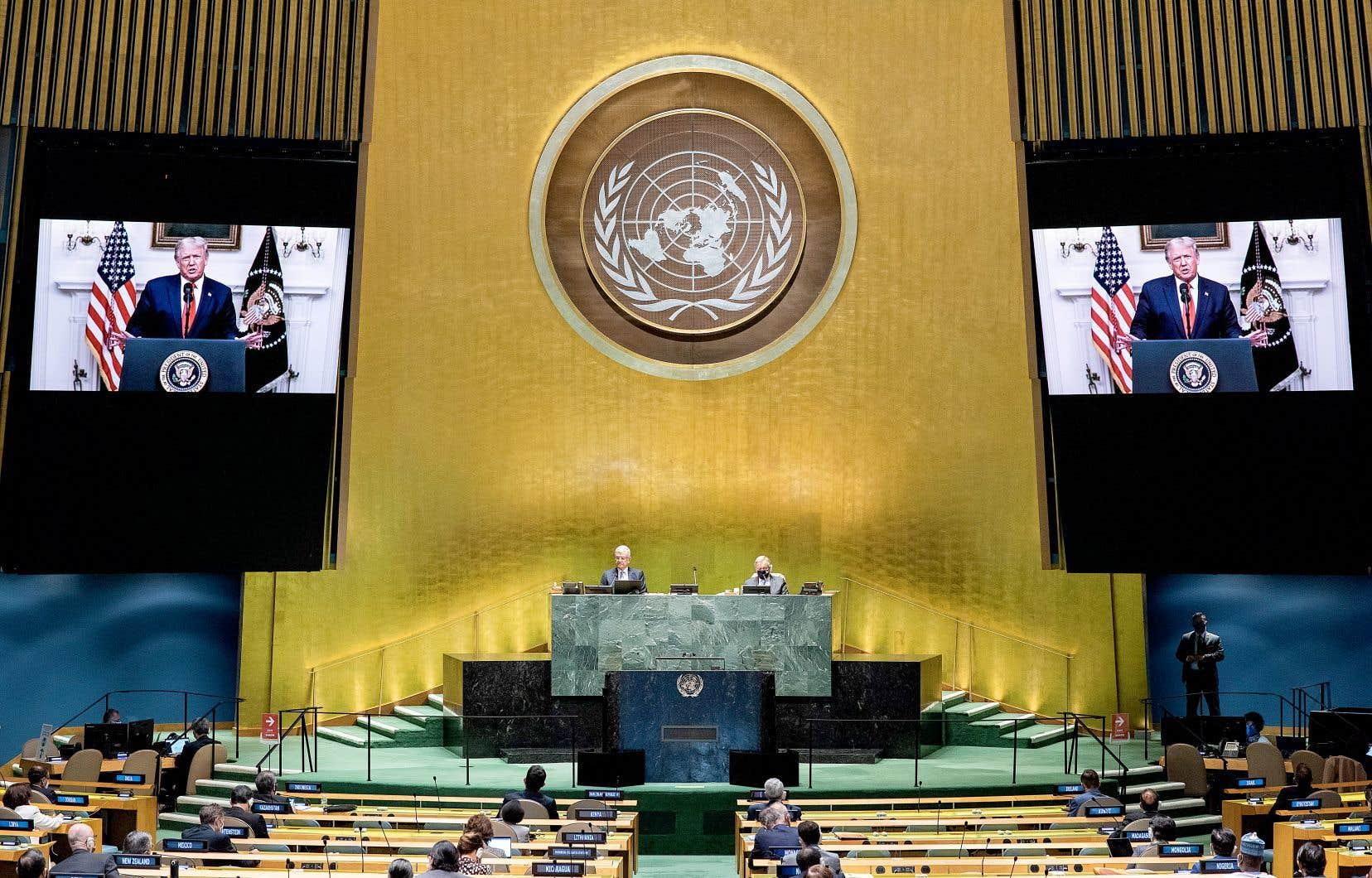 Un message vidéo préenregistré du président américain, Donald Trump, a été diffusémardi à l'Assemblée générale de l'ONU.