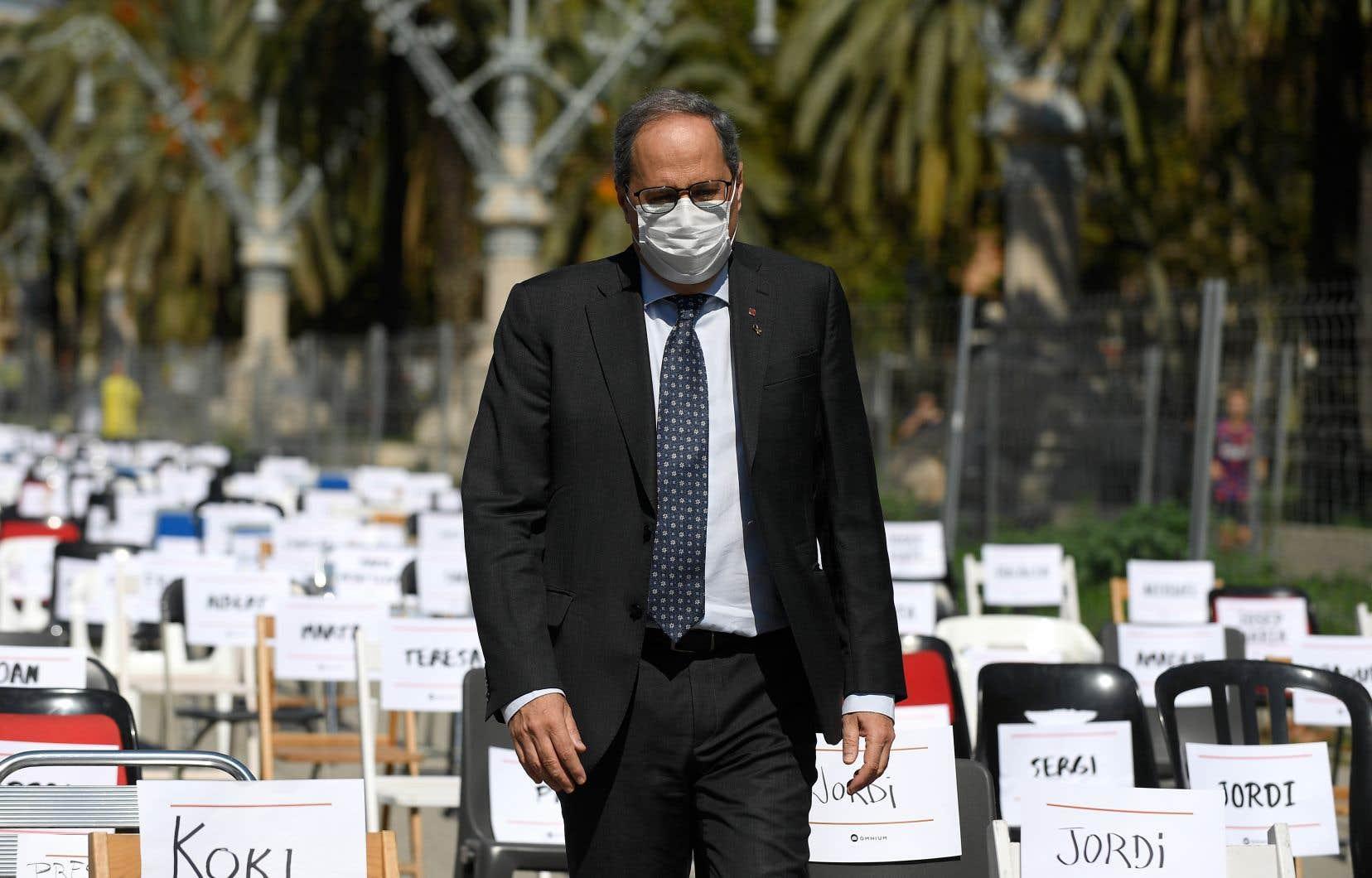Le président indépendantiste de la Catalogne, Quim Torra