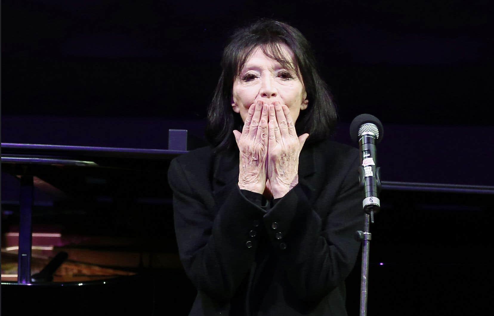 La chanteuse française Juliette Gréco en 2016