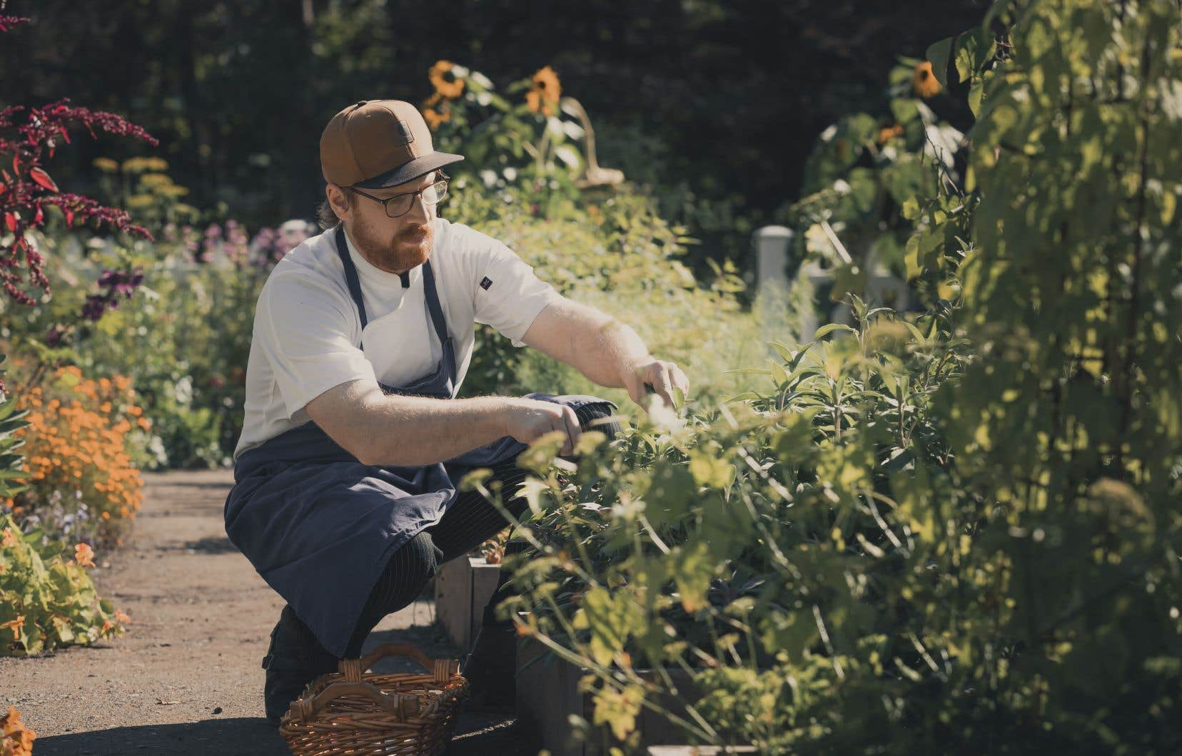 Le chef Frédérick Boucher, dans les Jardins de Métis<credit></credit>