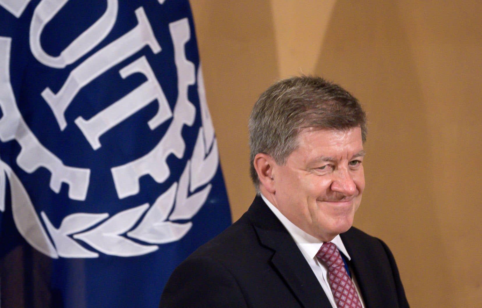 Le directeur général de l'Organisation internationale du travail, Guy Ryder