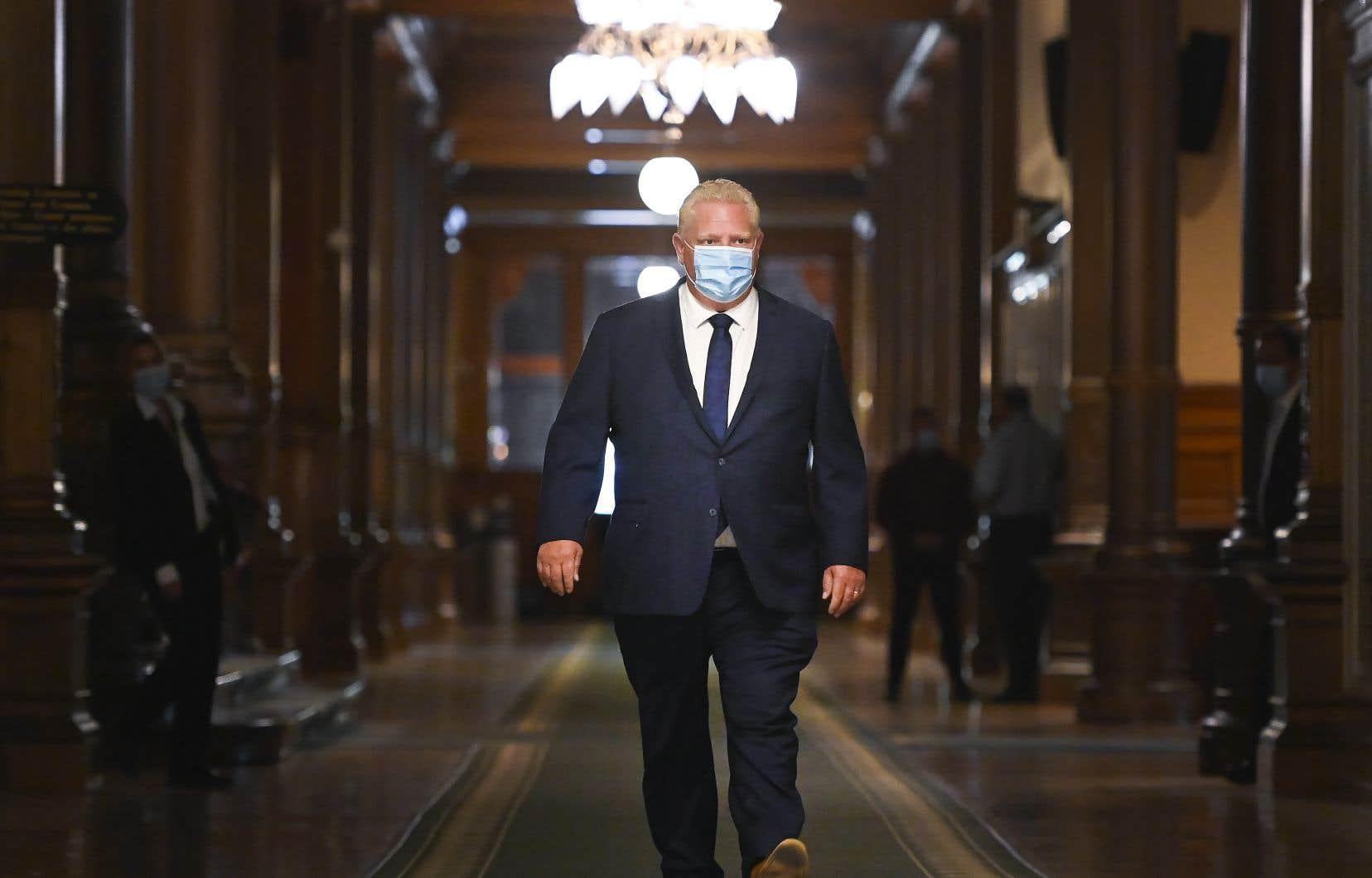 Le premier ministre de l'Ontario, Doug Ford, a souligné jeudi que tous les dirigeants provinciaux parlent d'une même voix dans leur critique du discours du Trône livré la veille.