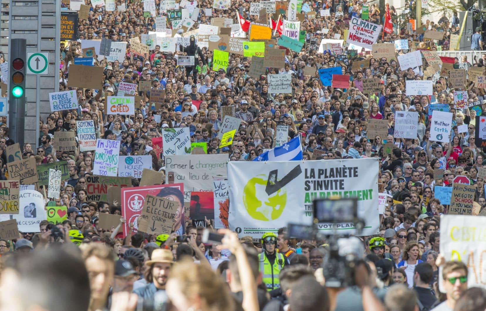 Le vendredi 27septembre 2019, une foule de près de 500000 manifestants avait battu le pavé montréalais pour réclamer aux gouvernements des actions concrètes pour le climat.