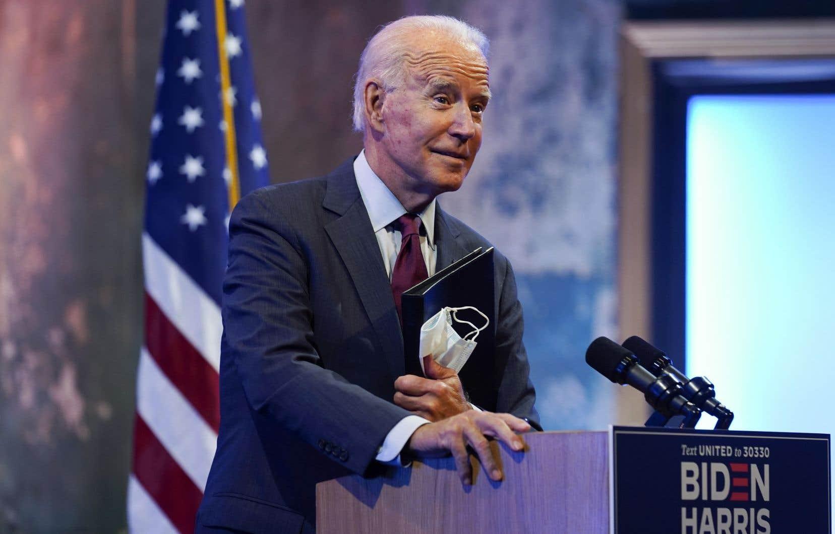 Le candidat démocrate à la Maison-Blanche, Joe Biden