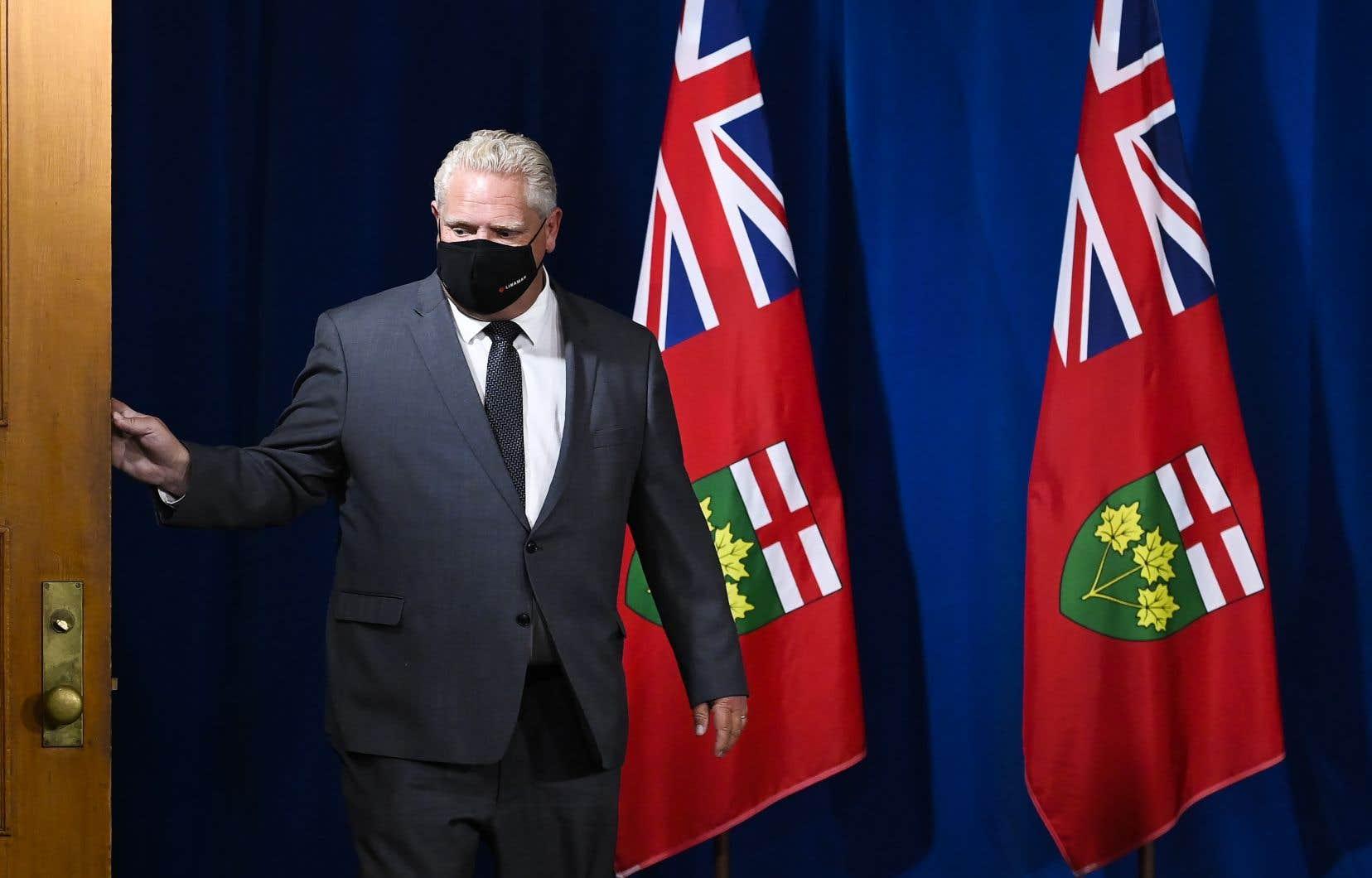 Le premier ministre de l'Ontario, Doug Ford