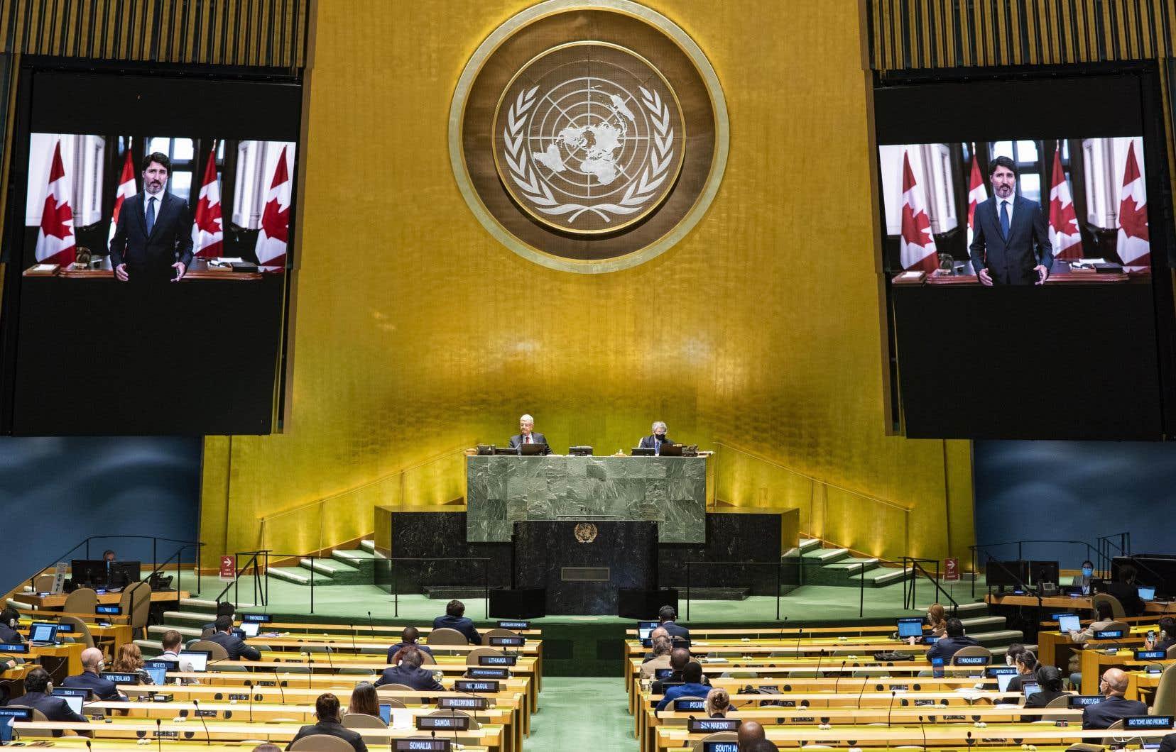 JustinTrudeau a participé lundi à une session extraordinaire des Nations Unies par vidéoconférence en marge de la réunion virtuelle de l'Assemblée générale.