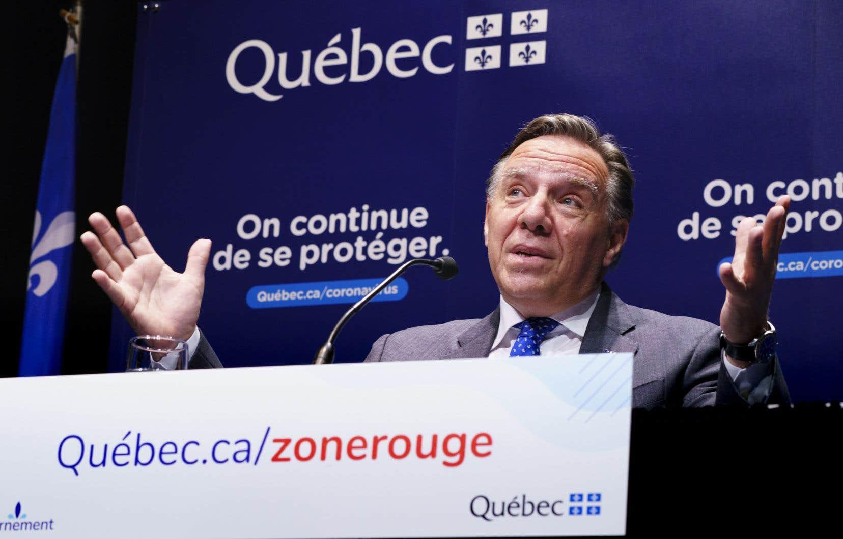 Le première ministre François Legault