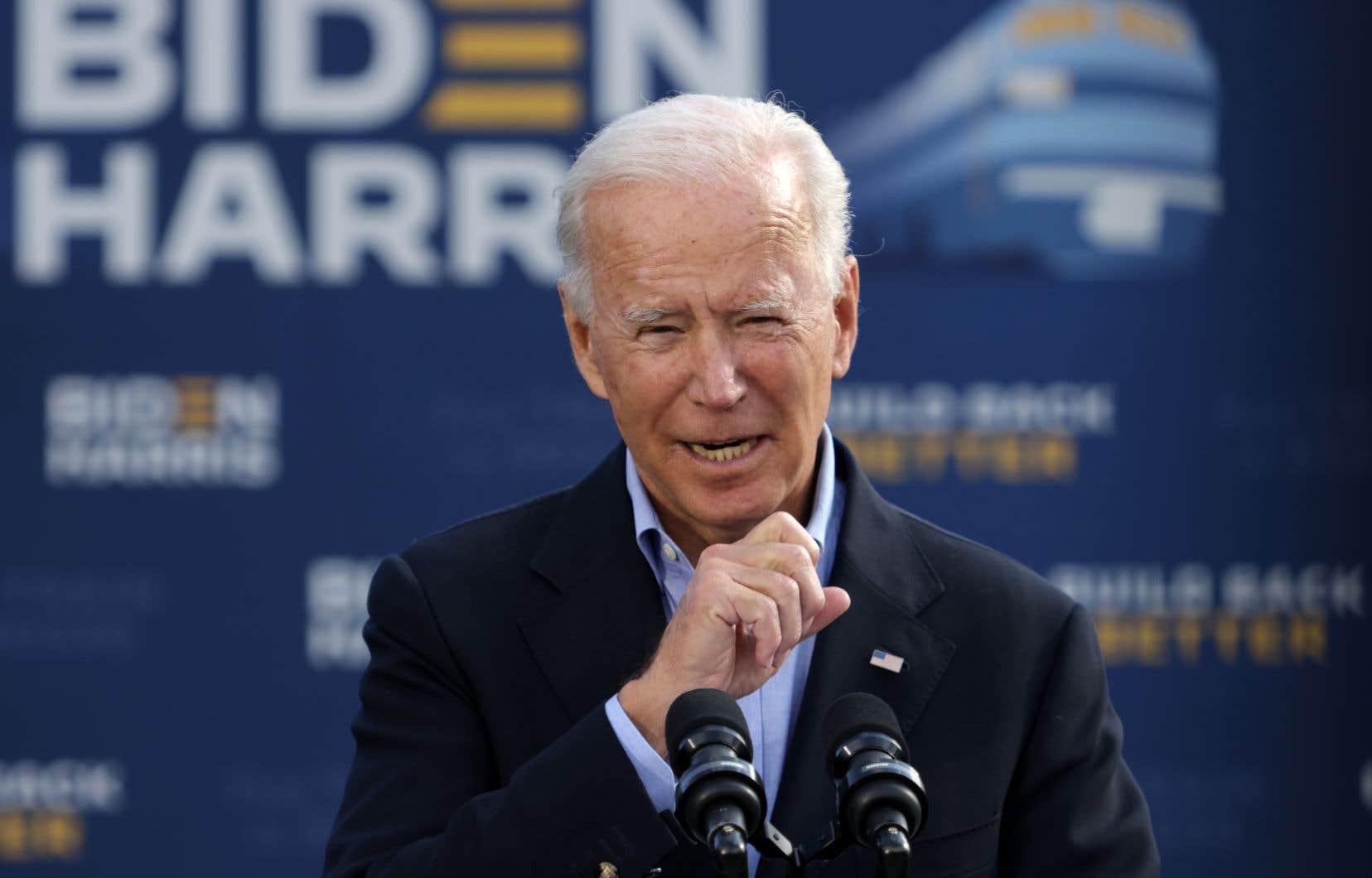 Le candidat démocrate à la Maison-Blanche Joe Biden était de passage à Alliance, dans l'Ohio.