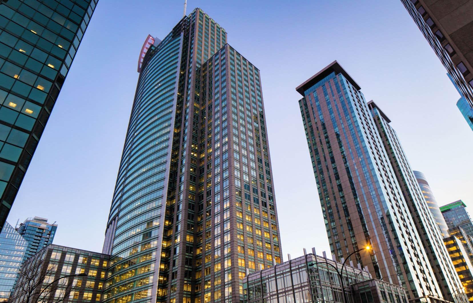 Dans le centre-ville montréalais, le taux d'inoccupation a grimpé à 8,7%.