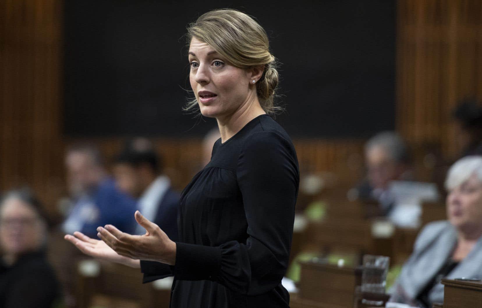 La ministre du Développement économique, Mélanie Joly