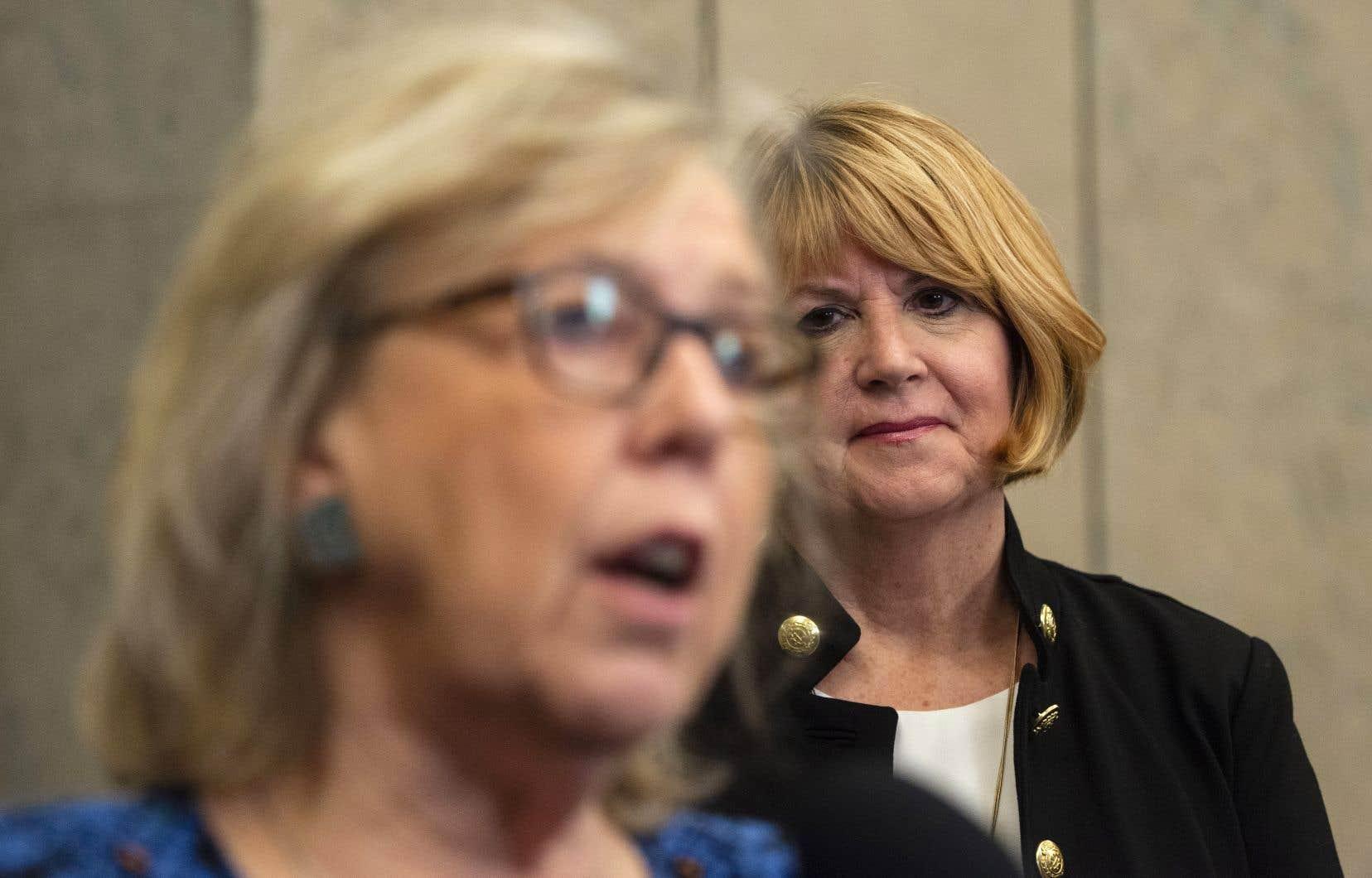 La cheffe intérimaire du Parti vert du Canada, Jo-Ann Roberts