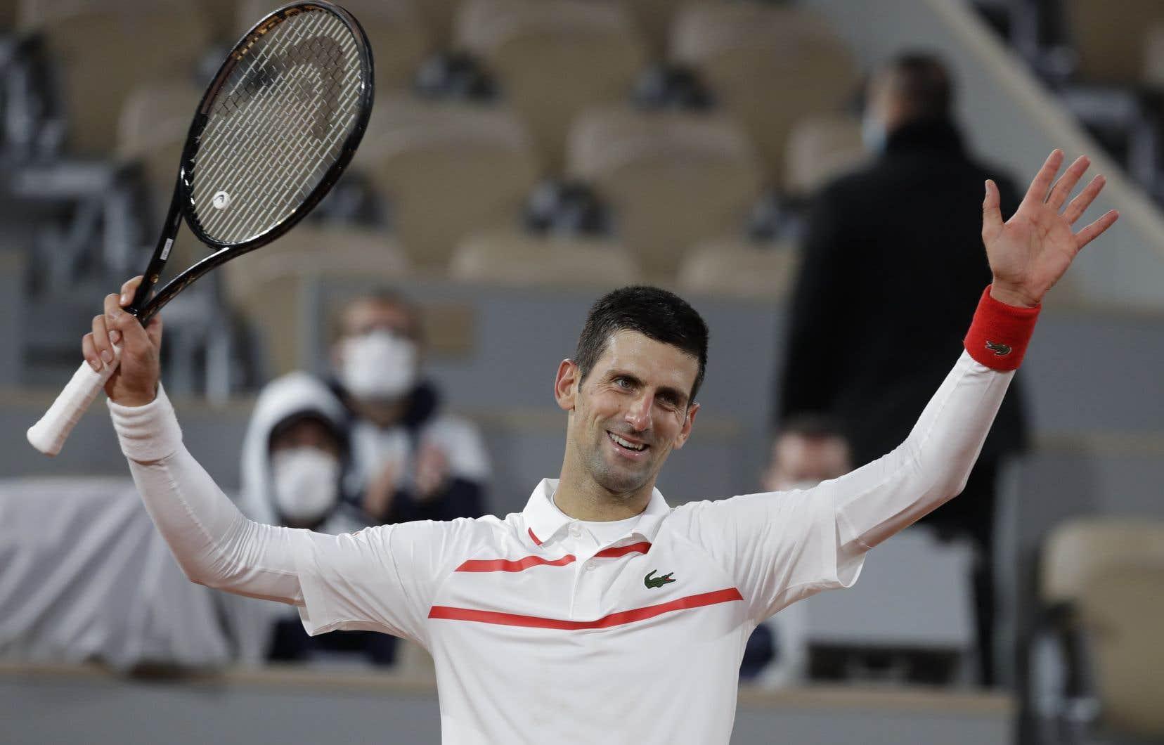 Djokovic n'a jamais été véritablement bousculé par Galan samedi, et il a porté sa fiche à 34-1 en 2020.