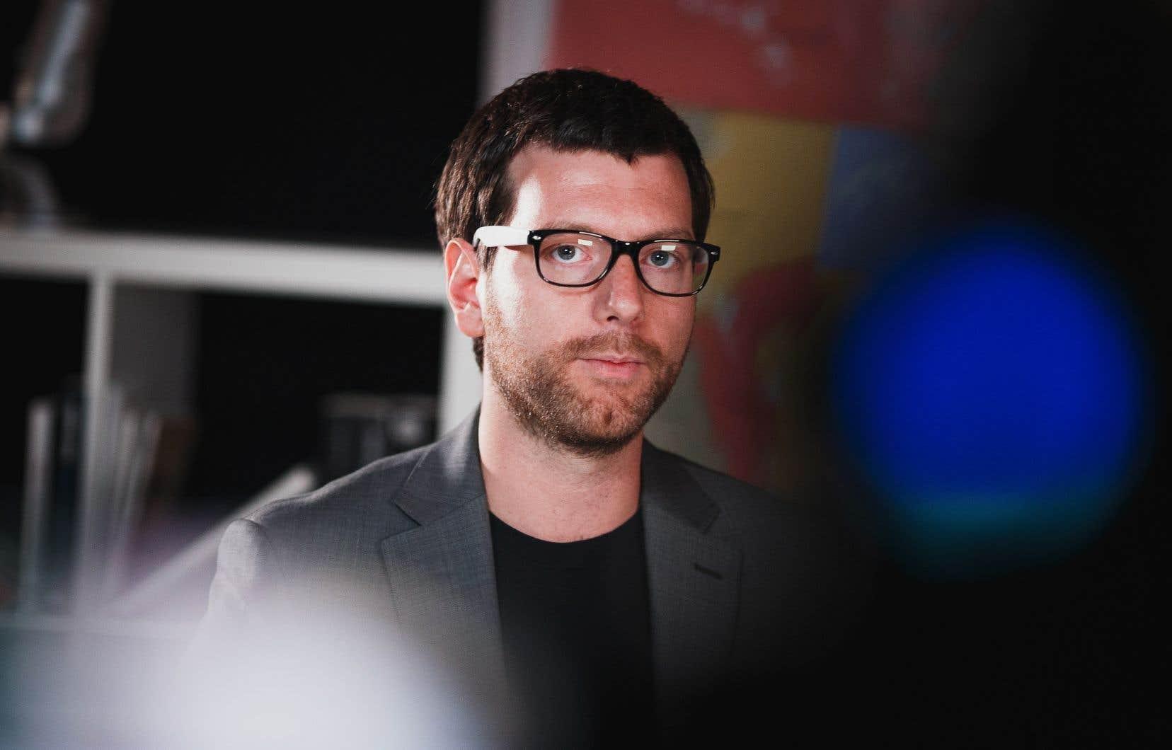 Le chef du Parti vert du Québec, Alex Tyrell