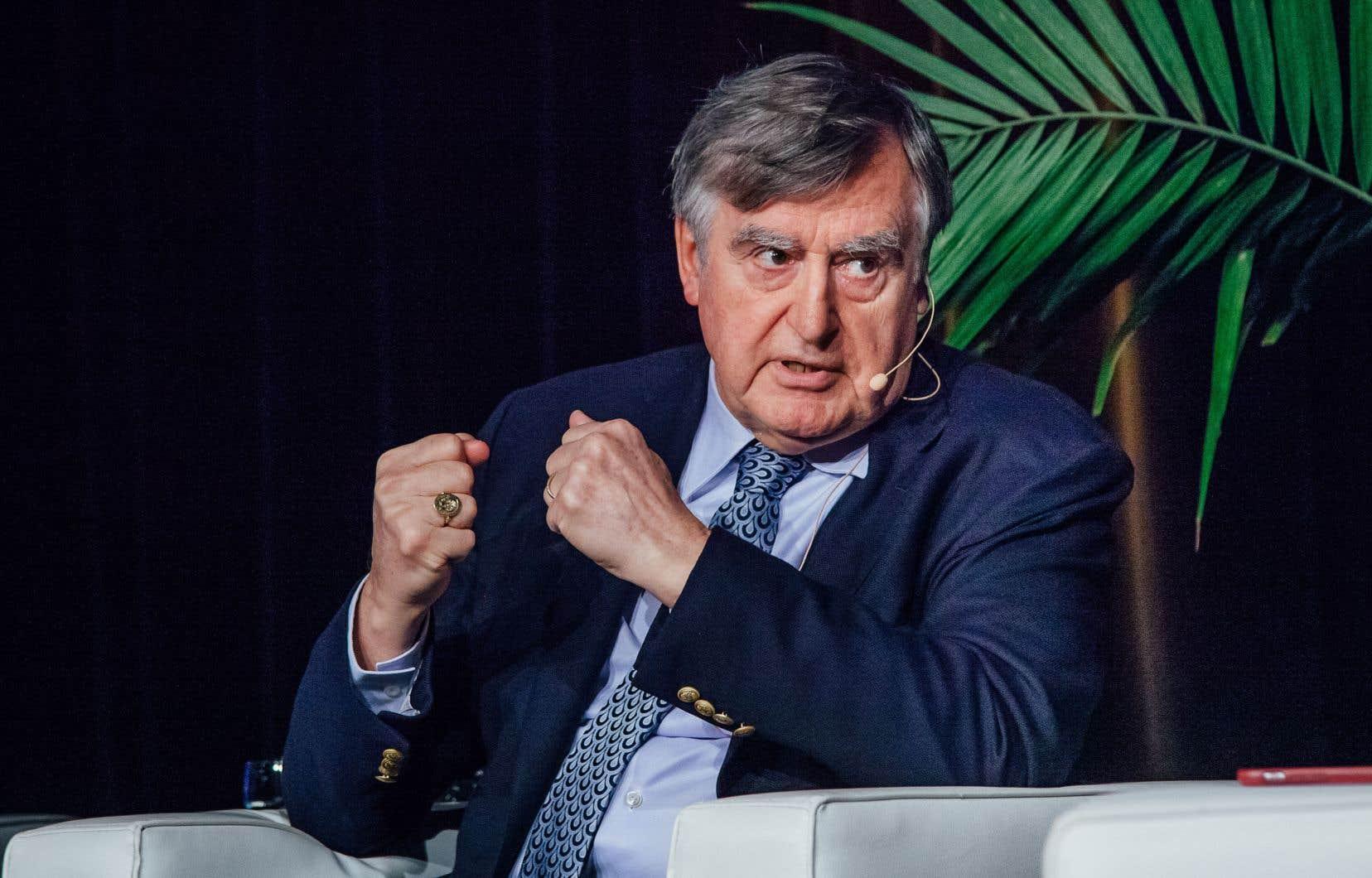 L'ancien premier ministre du Québec, Lucien Bouchard, lors d'un événement public tenu en mai 2019.