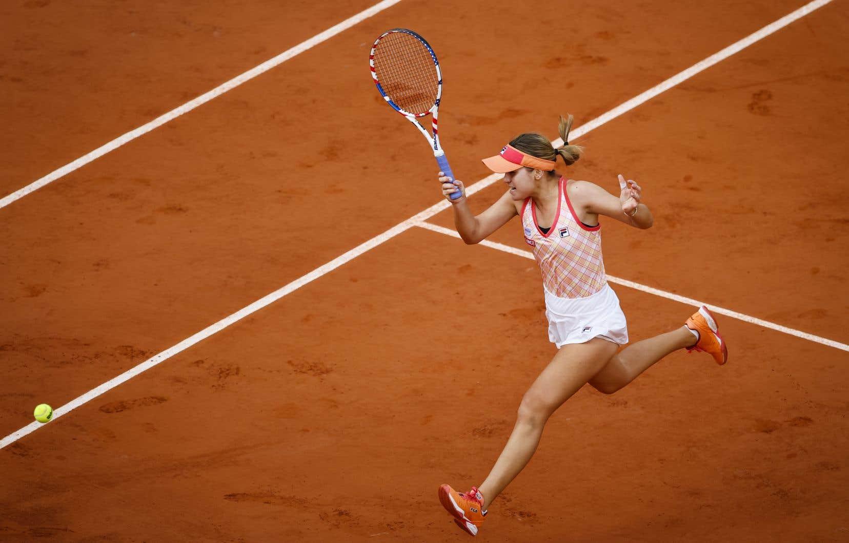 L'Américaine Sofia Kenin a disposé de la double championne de Wimbledon Petra Kvitova aux Internationaux de tennis de France.