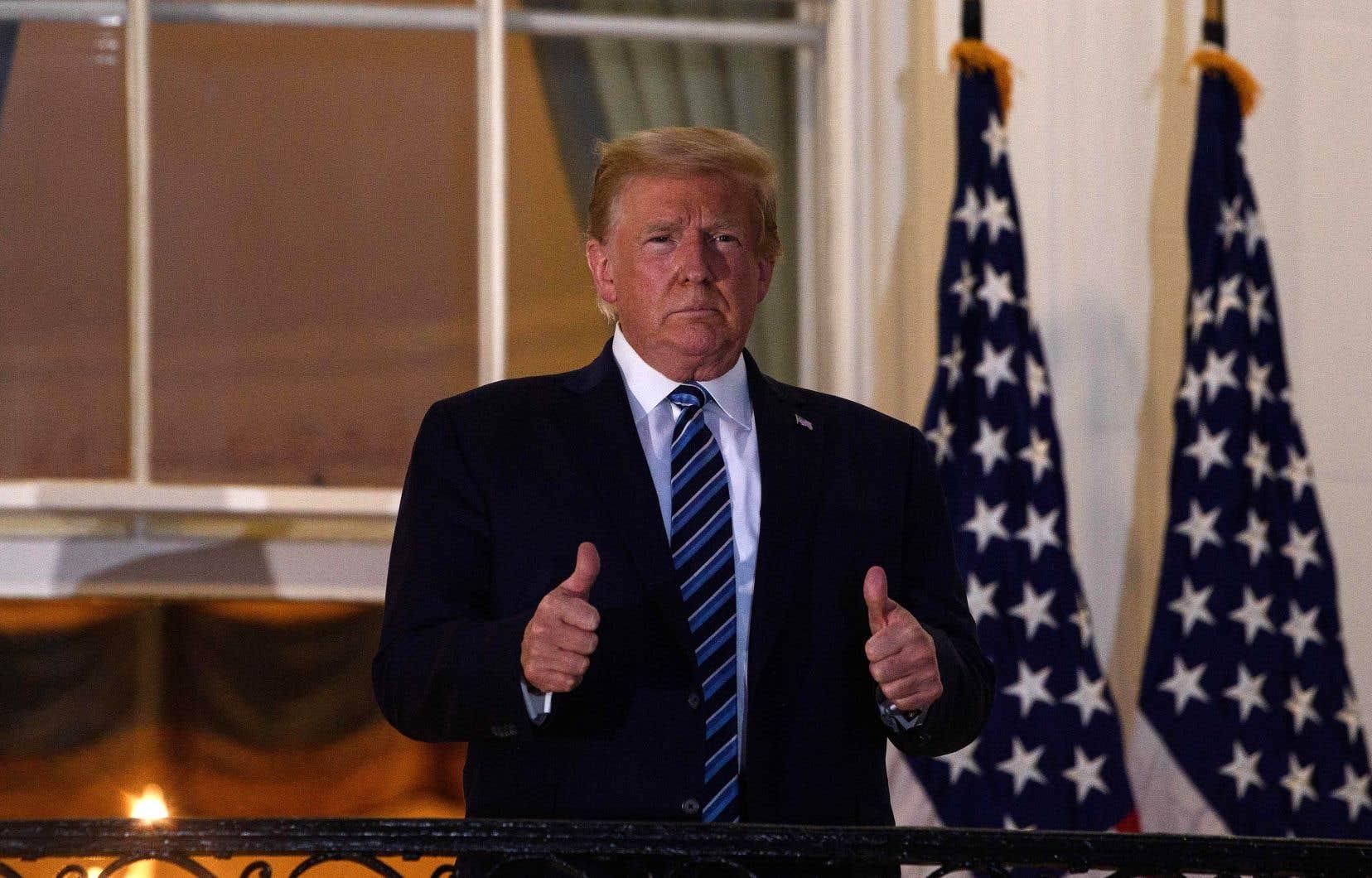 Samedi marquera le dixième jour depuis que le président républicain Donald Trump a été testé positif pour la COVID-19.