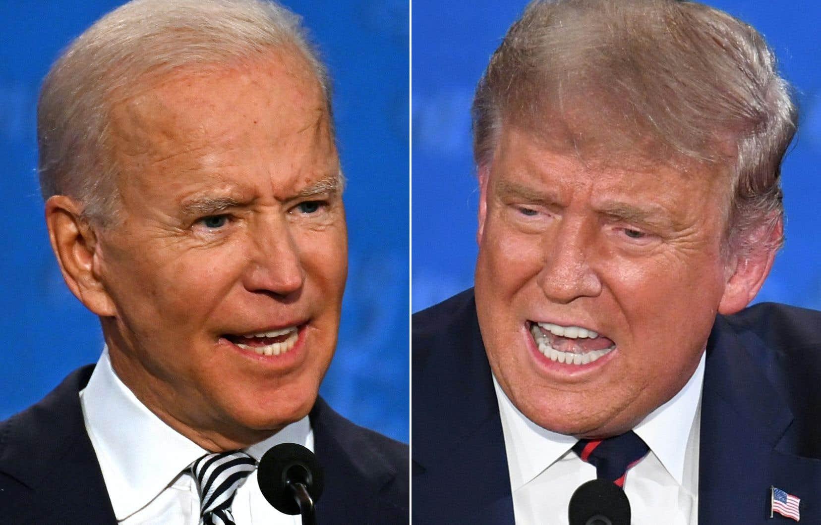Le candidat démocrate à la présidence, Joe Biden, et le président américain, Donald Trump