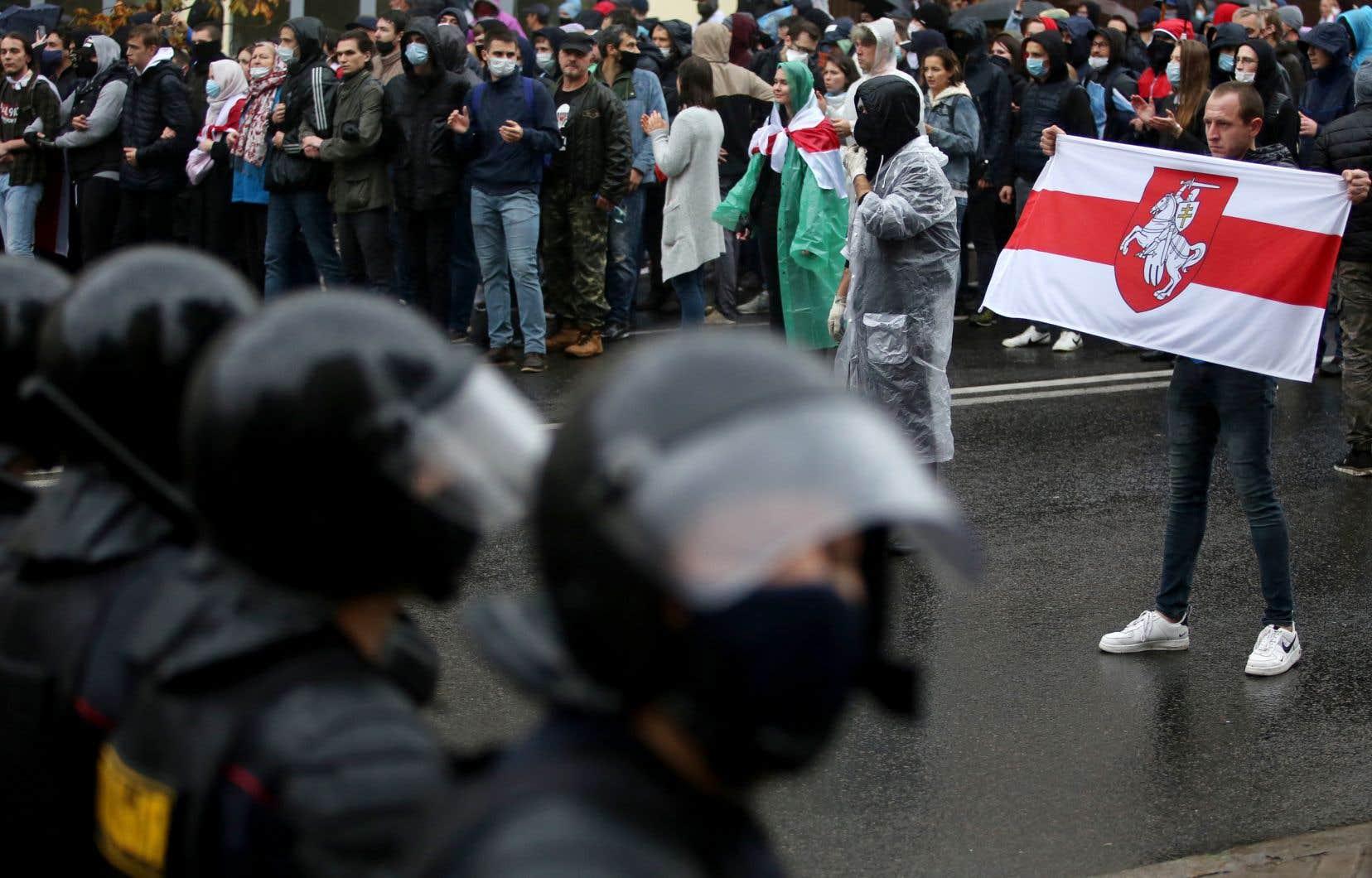 Une telle répression policière n'avait plus été vue depuis août.