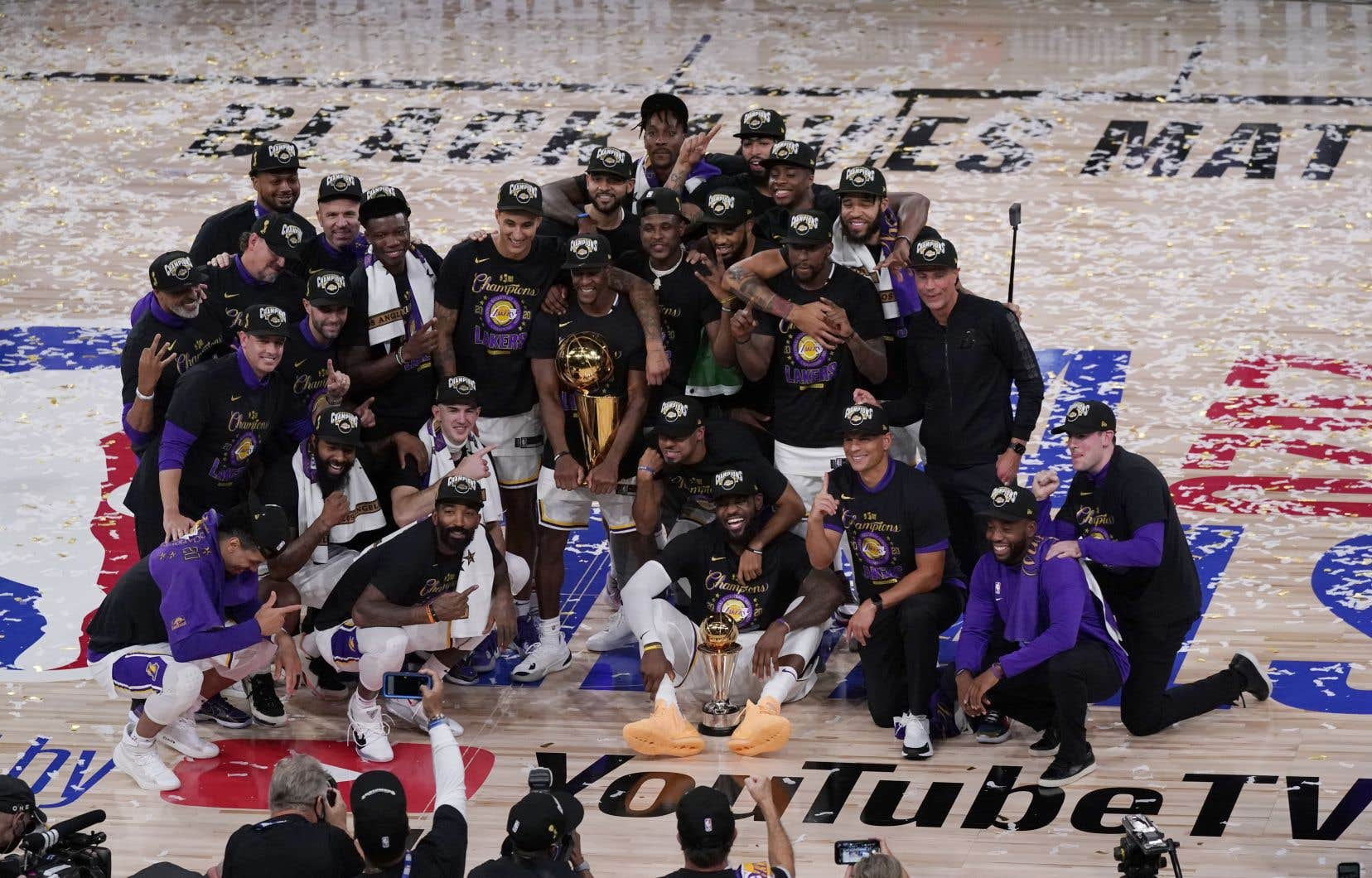 Les Lakers ont surmonté moult défis cette saison, parmi lesquels la mort tragique de Kobe Bryant en janvier et le fait de devoir jouer dans la bulle de la NBA à Walt Disney World pendant trois mois, sans partisans.