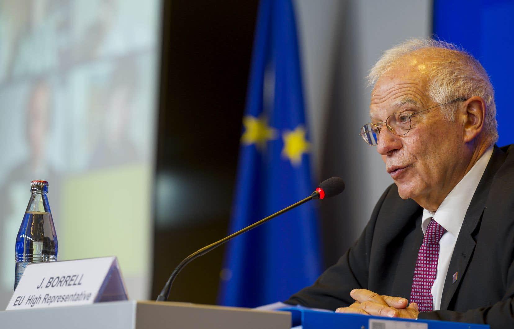 «Tout le monde a accepté cette mesure», a souligné le chef de la diplomatie européenne, Josep Borrell.