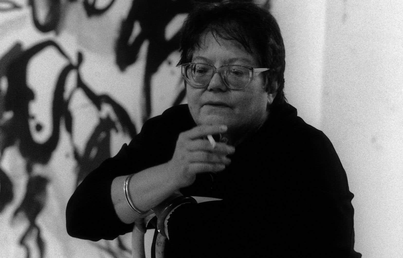 Francine Simonin (ici photographiée en 1991) s'était installée à Montréal depuis plus de 50 ans grâce à l'obtention d'une bourse d'études du Conseil des arts du Canada.