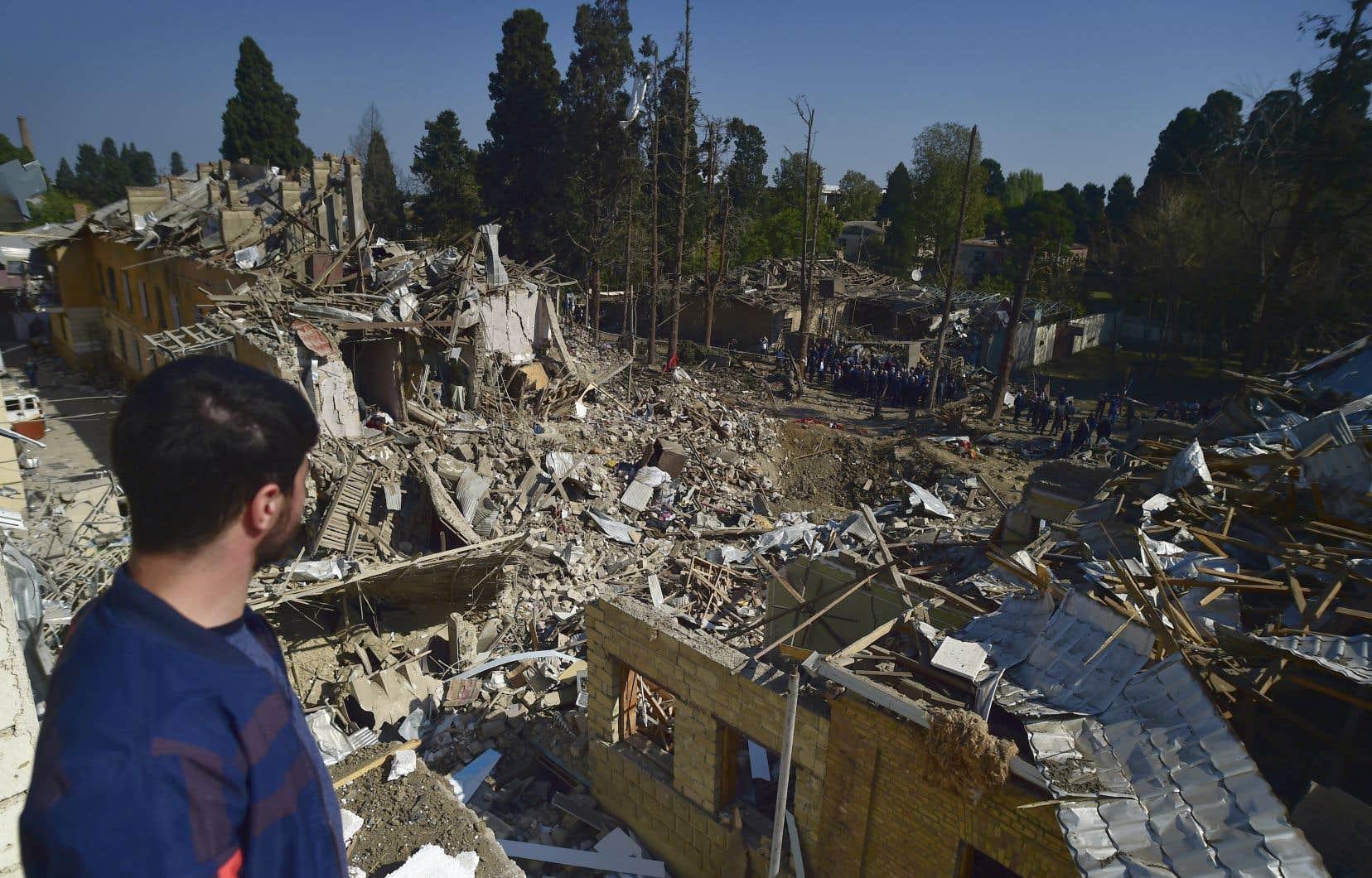 Le conflit a fortement touché Gandja, deuxième ville d'Azerbaïdjan.