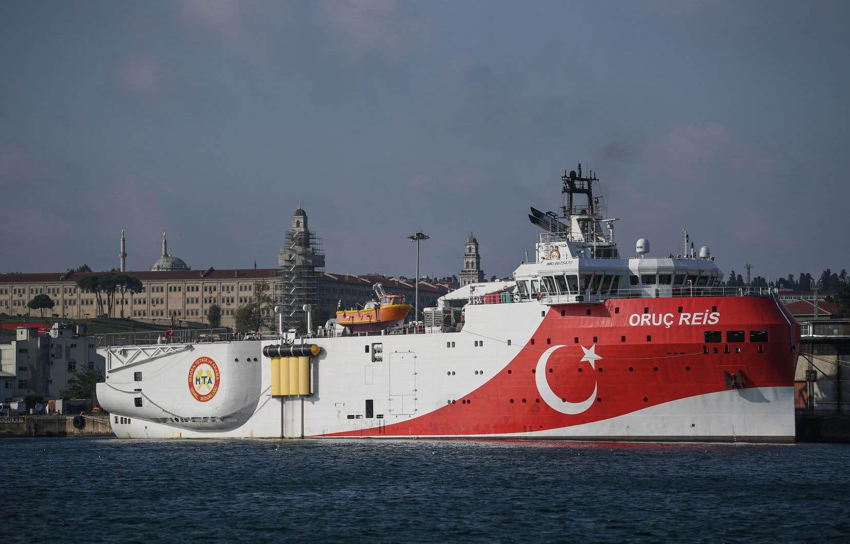 La marine turque a indiqué lundi que le navire «Oruc Reis» reprendrait ses activités dans une zone contestée jusqu'au 22octobre.