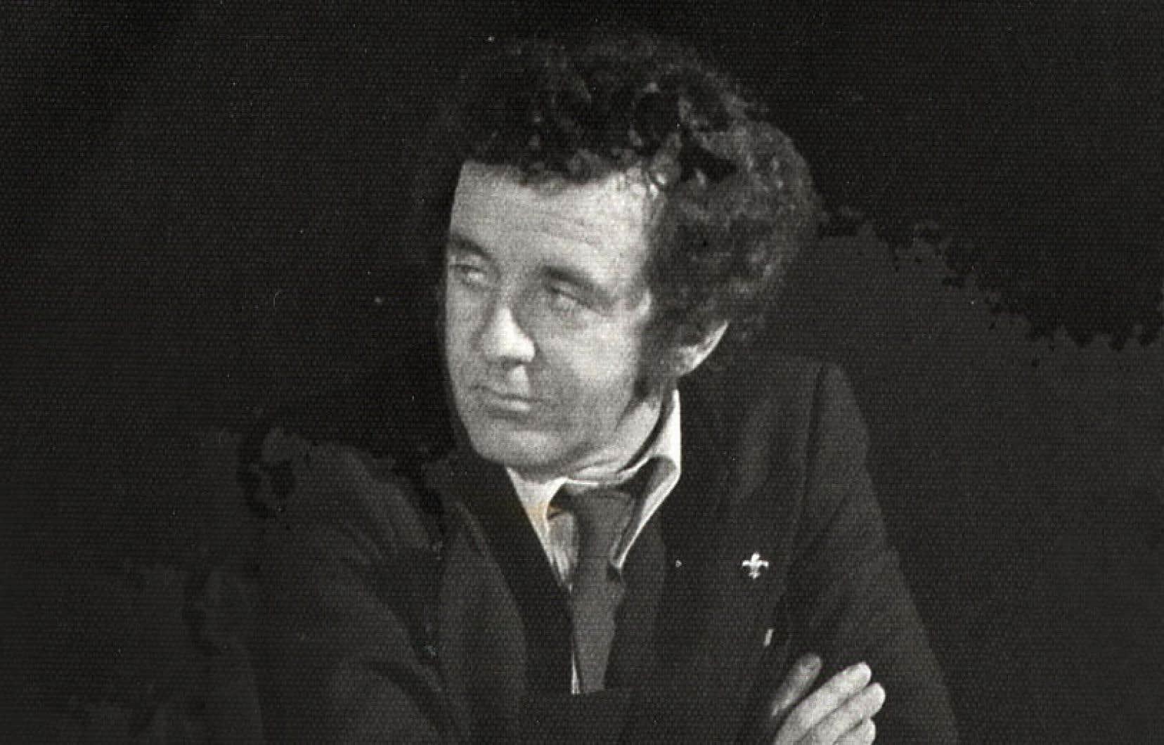 Gérald Godin, photographié en février 1978