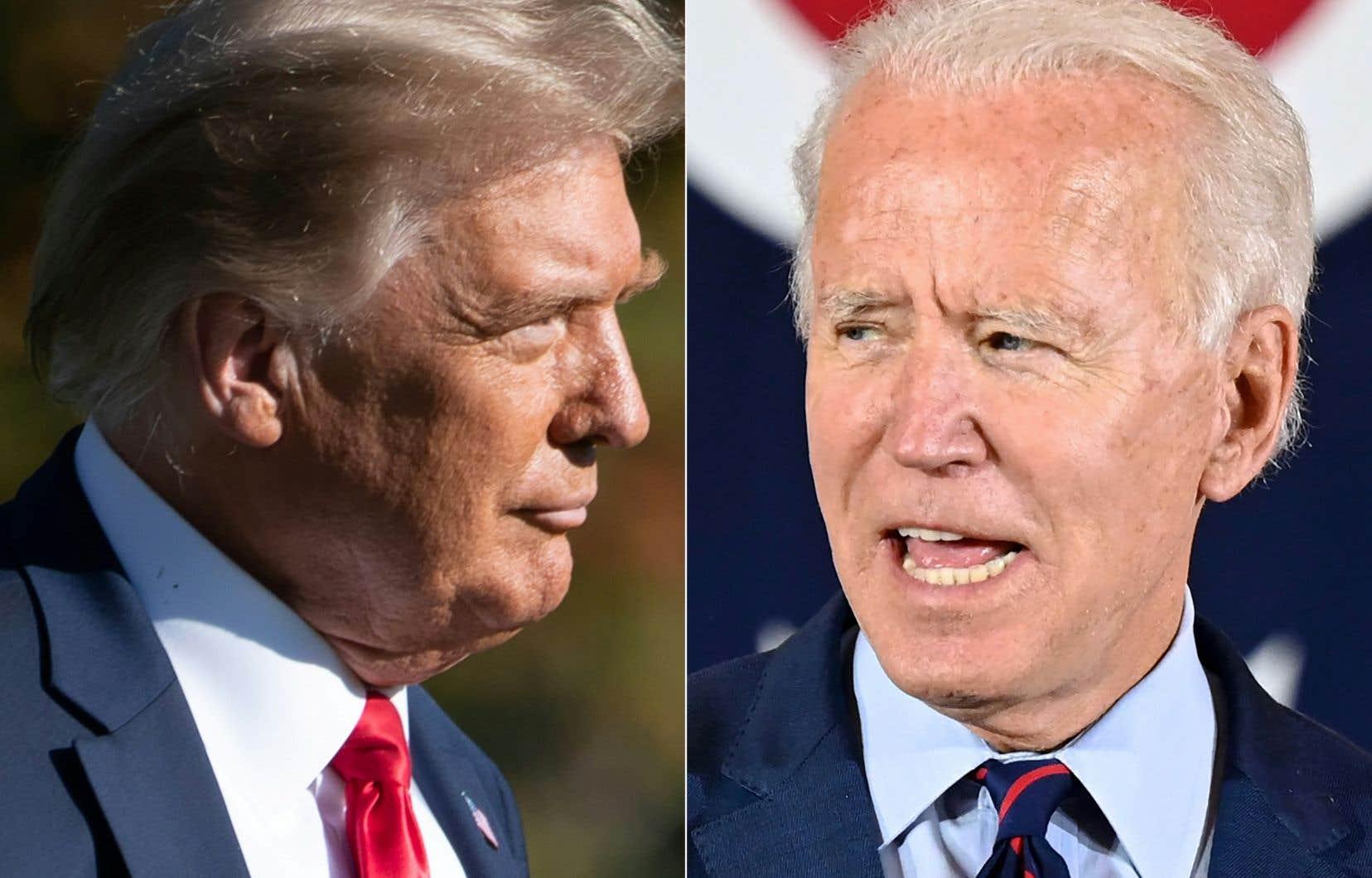 À 16 jours de l'élection du 3novembre, Joe Biden devance Donald Trump de neuf points au niveau national, selon la moyenne des sondages du site RealClearPolitics.