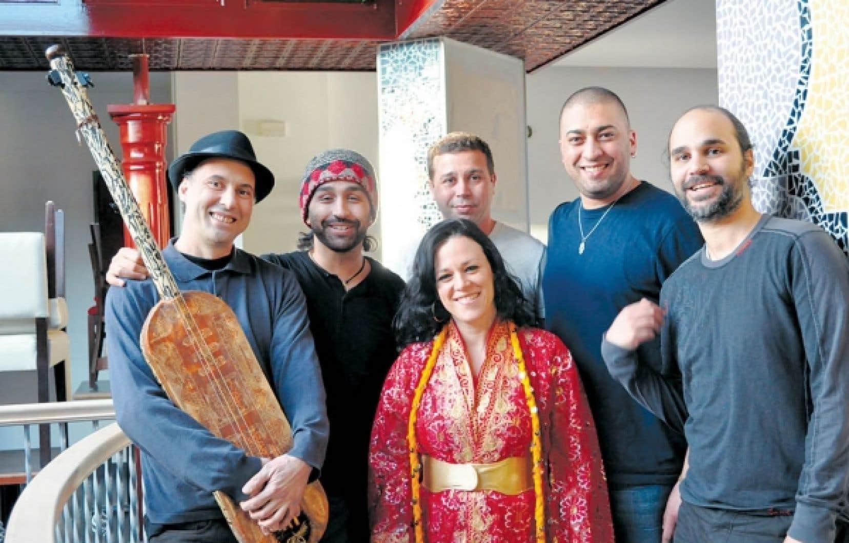 De gauche &agrave; droite: Nazir Bouchareb, Khalil Abouabdelmajid, Samanta Burnstein, Mohamed Masmoudi, Karim Benza&iuml;d et Zied Ben Amor.<br />
