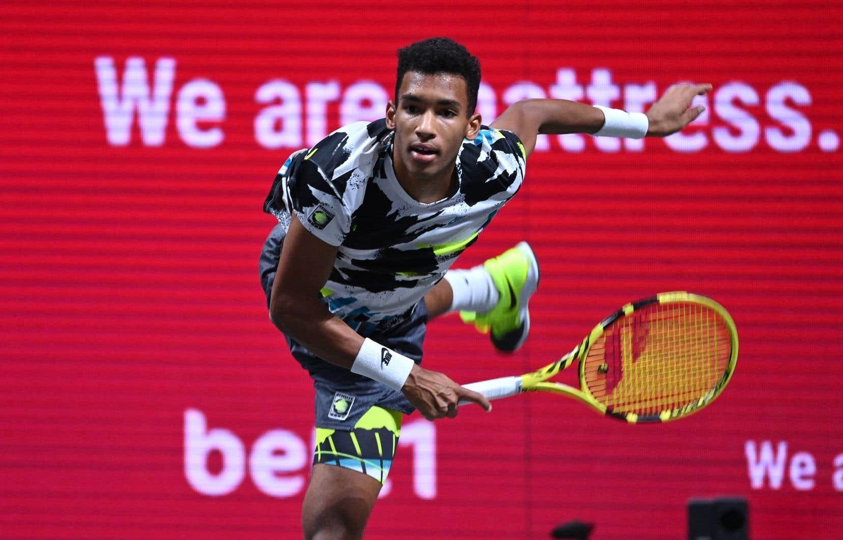 Félix Auger-Aliassime, lors de à la finale du tournoi en salle de Cologne la semaine dernière