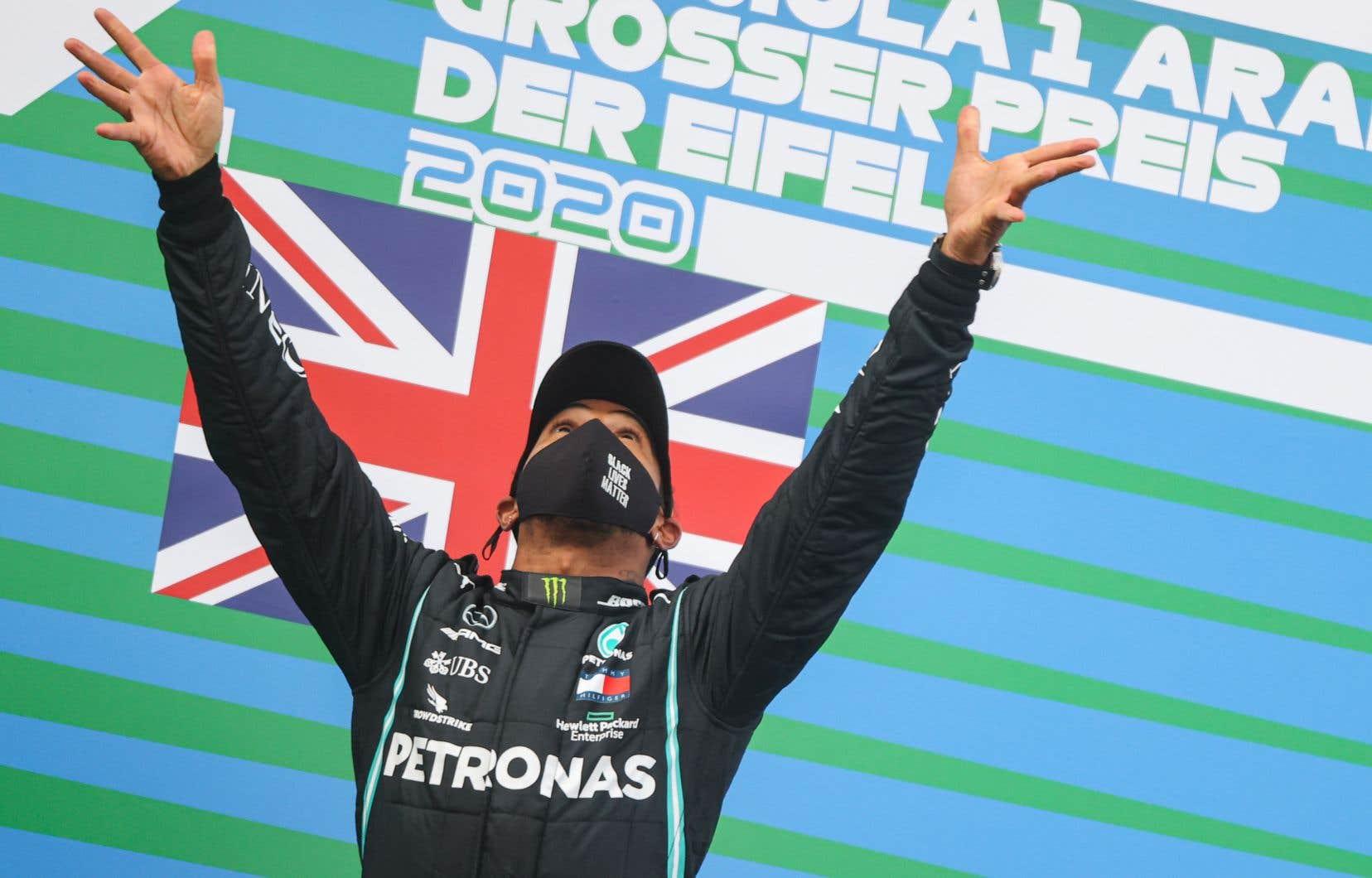 Lewis Hamilton a inscrit la 91e victoire de sa carrière au Grand Prix d'Eifel, en Allemagne, le 11 octobre dernier.