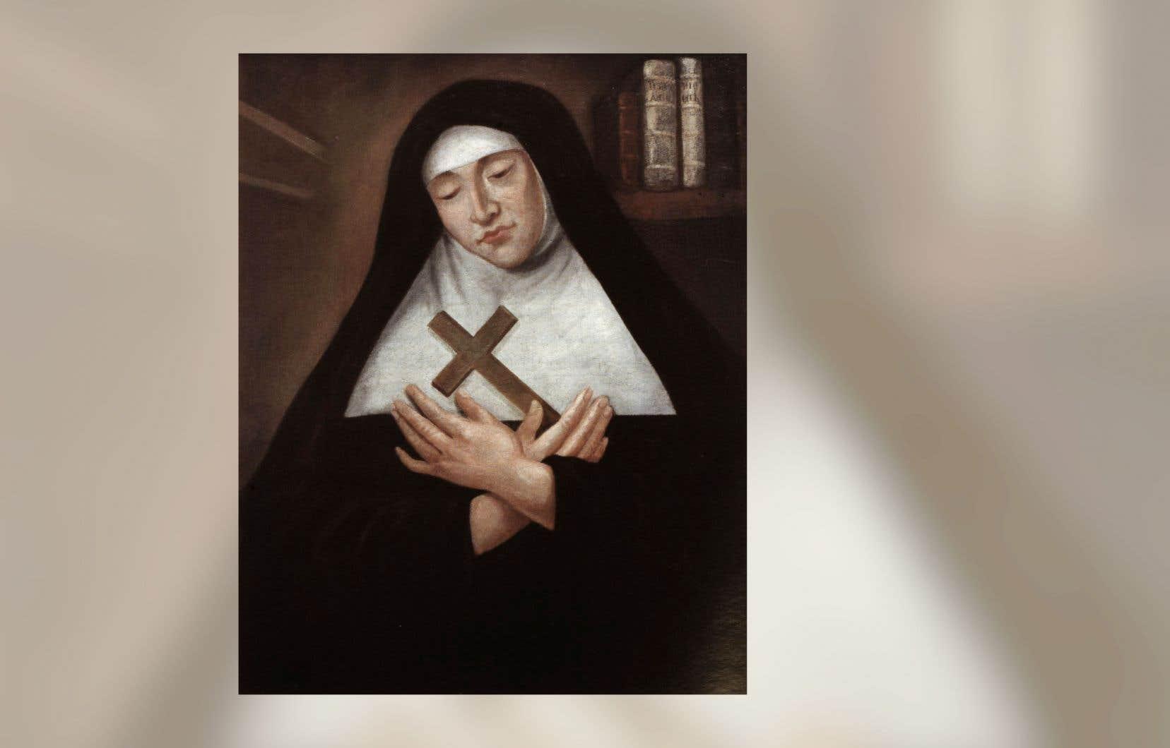 Portrait de Marie de l'Incarnation, attribué au peintre et missionnaire Hugues Pommier, lequel arrive à Québec en 1664. Un professeur d'histoire de l'Université Laval tente de redonner vie à la fondatrice des Ursulines.