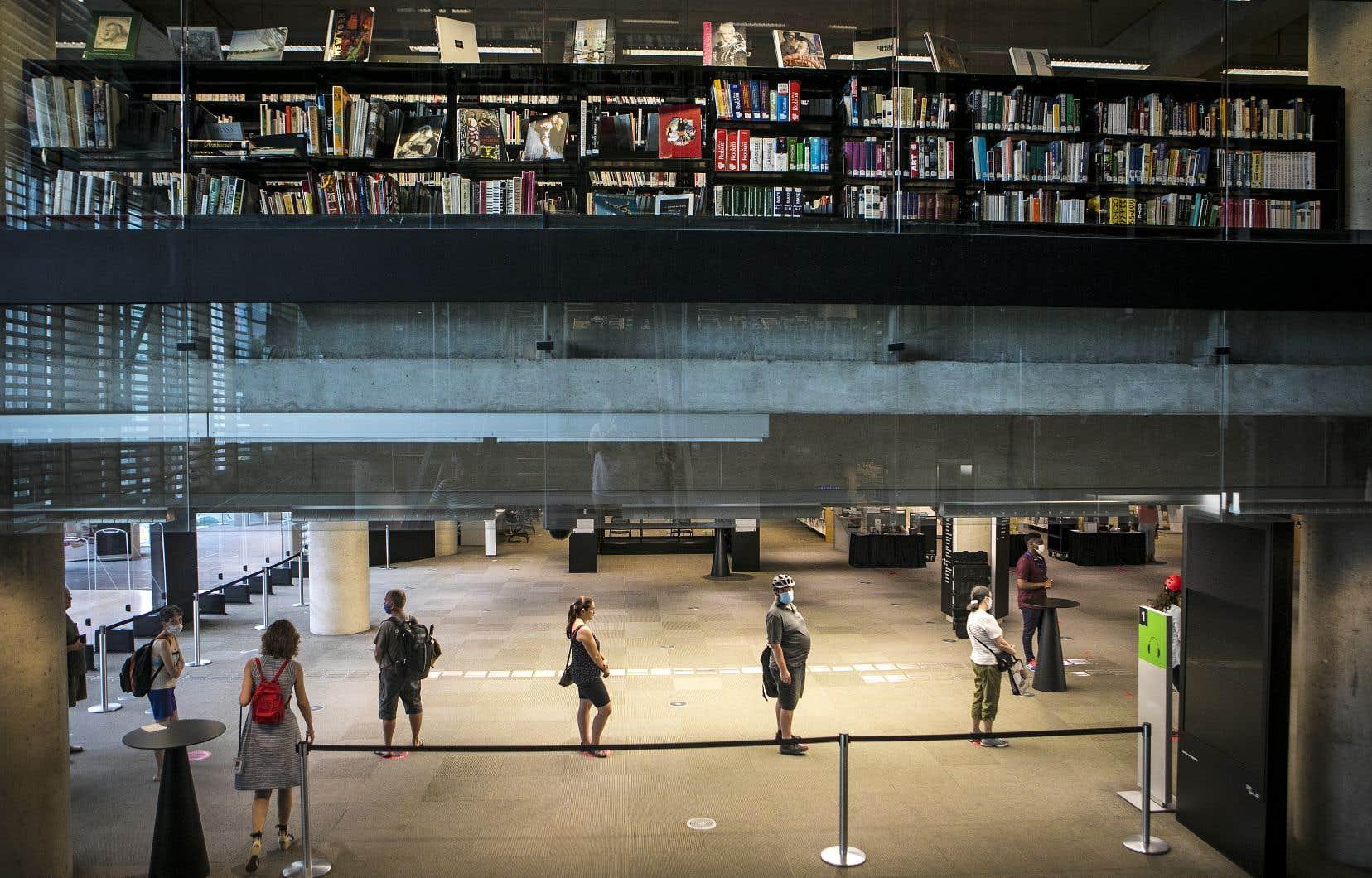 Les mises à pied temporaires au sein de la Grande Bibliothèque touchent des secteurs pour lesquels la baisse de fréquentation des lieux physiques entraîne une diminution marquée de la charge de travail.