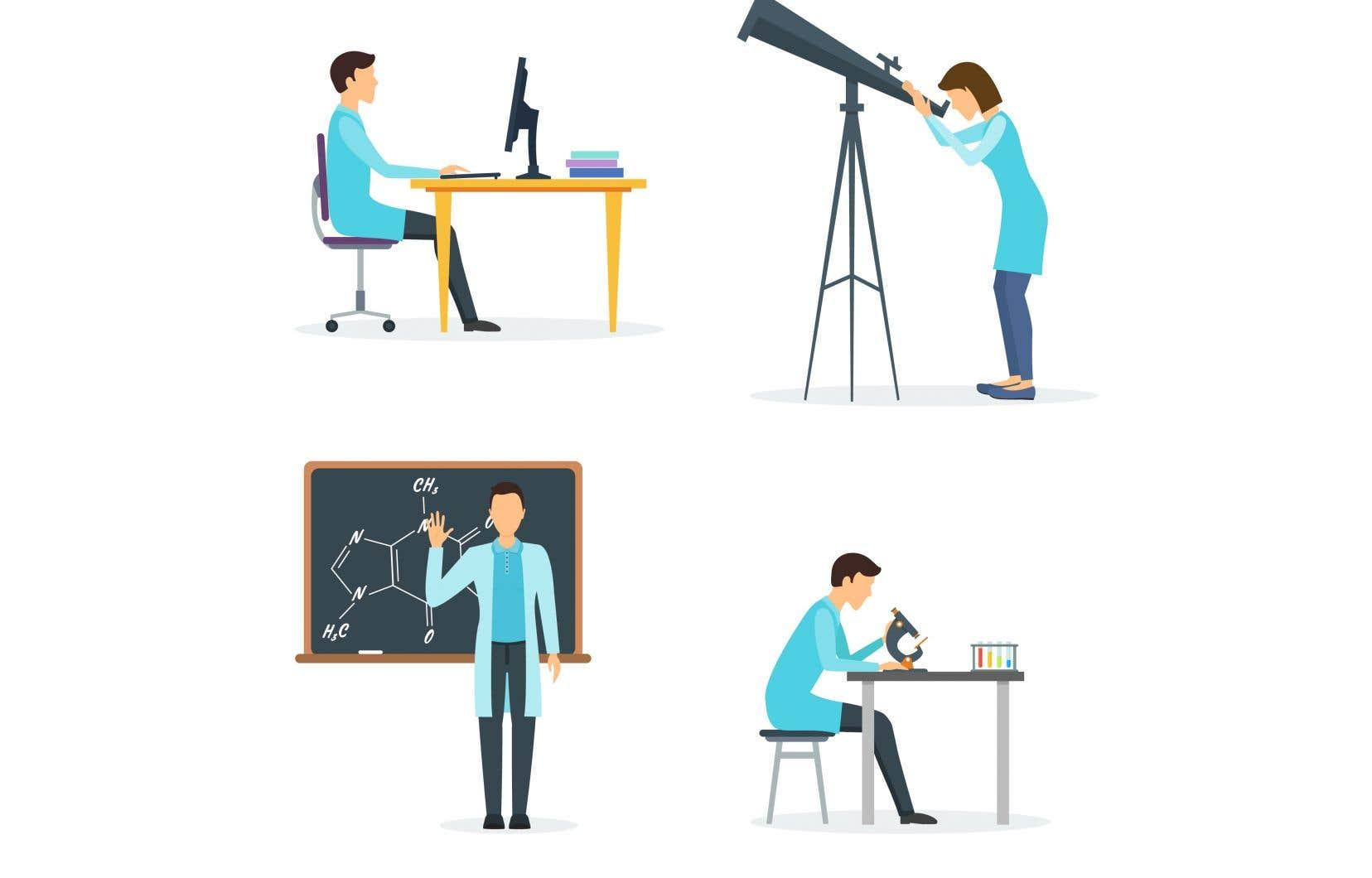 Entre deux cours en ligne, pandémie oblige, les enseignants-chercheurs consacrent leur temps à leurs activités de recherche.