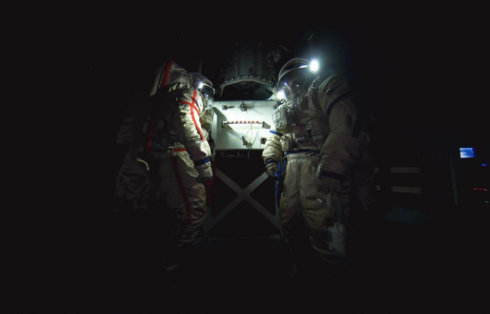 Image tirée du documentaire Space Explorers: Taking Flights, qui nous donne rendez-vous dans l'espace parmi les astronautes