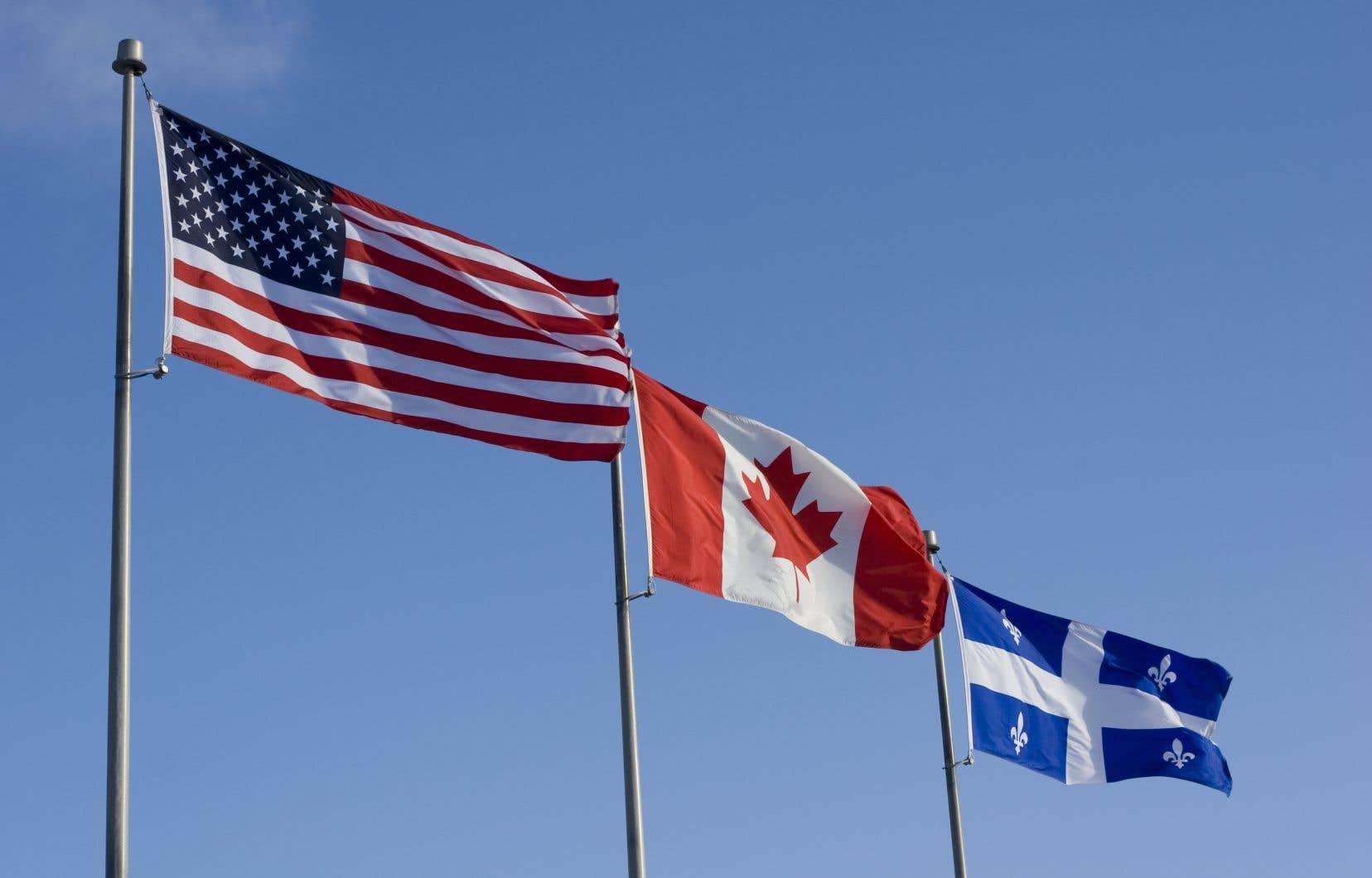 «Une visite officielle à Washington du vice-premier ministre Bernard Landry au début du mois de mai 1995 allait être l'occasion pour le Canada de mettre fin à la présence diplomatique du Québec», écrit l'autrice.