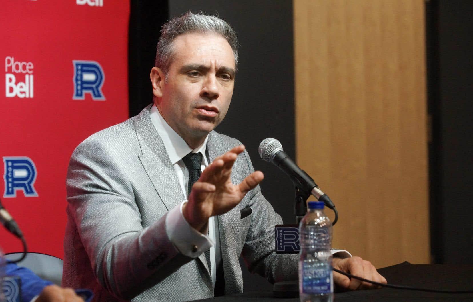 L'entraîneur-chef du club-école du Canadien de Montréal, le Rocket de Laval,Joël Bouchard
