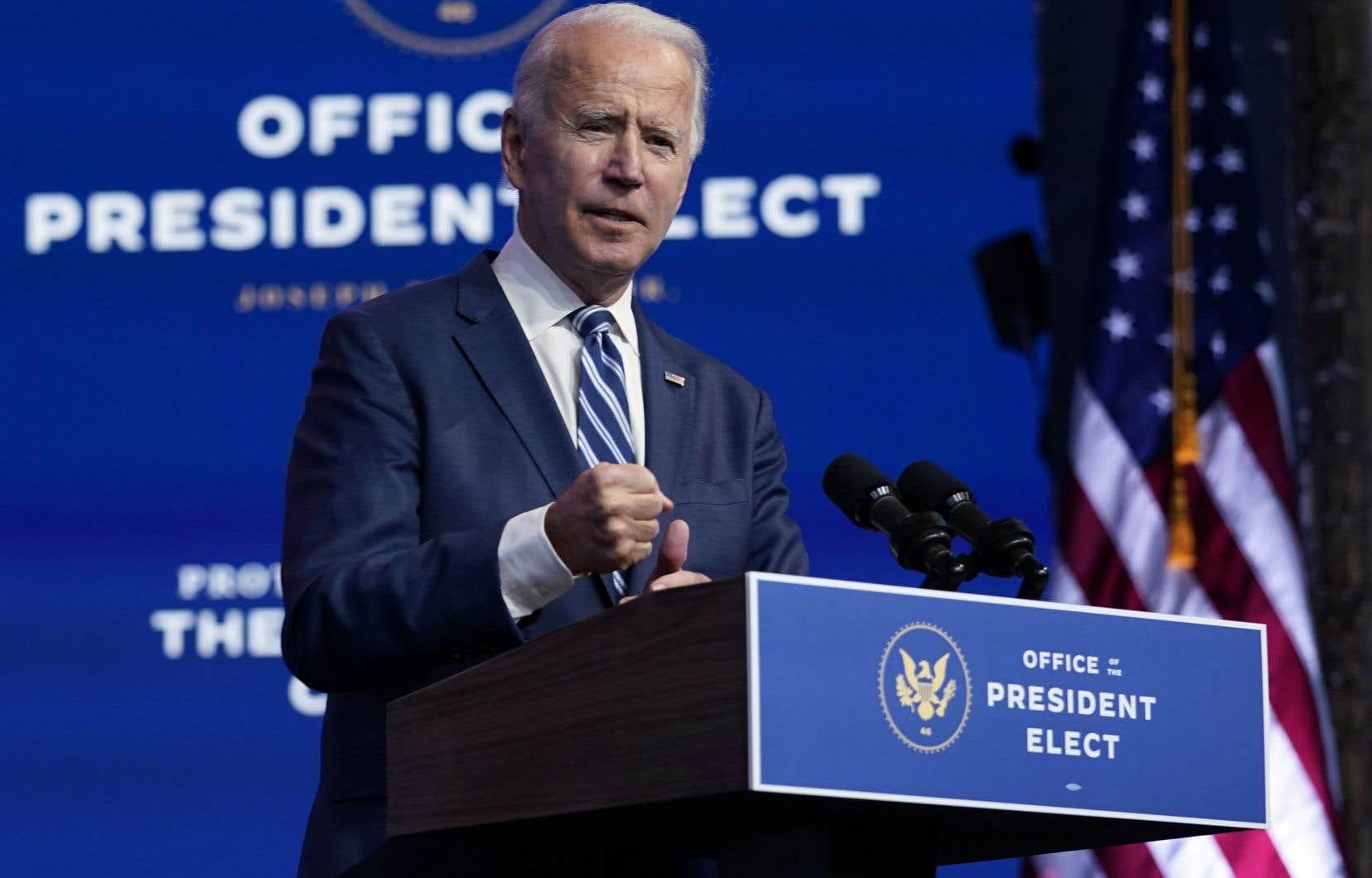 «Le fait que [les républicains] ne veuillent pas reconnaître à ce stade que nous avons gagné n'a pas beaucoup d'impact sur notre programme» de transition, a déclaré Joe Biden depuis son fief de Wilmington, au Delaware.