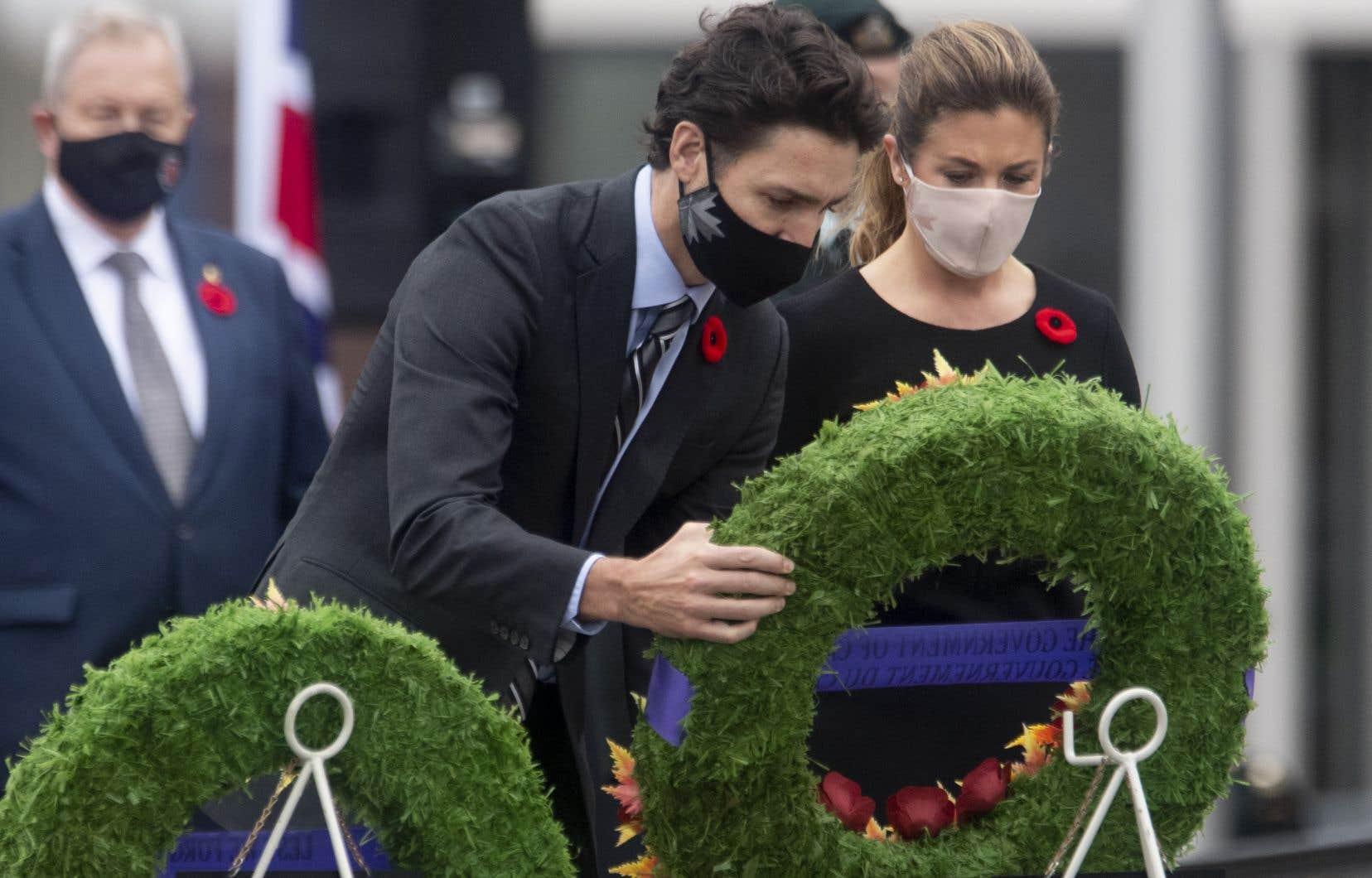 Le premier ministre du Canada, Justin Trudeau, accompagné de son épouse, Sophie Grégoire