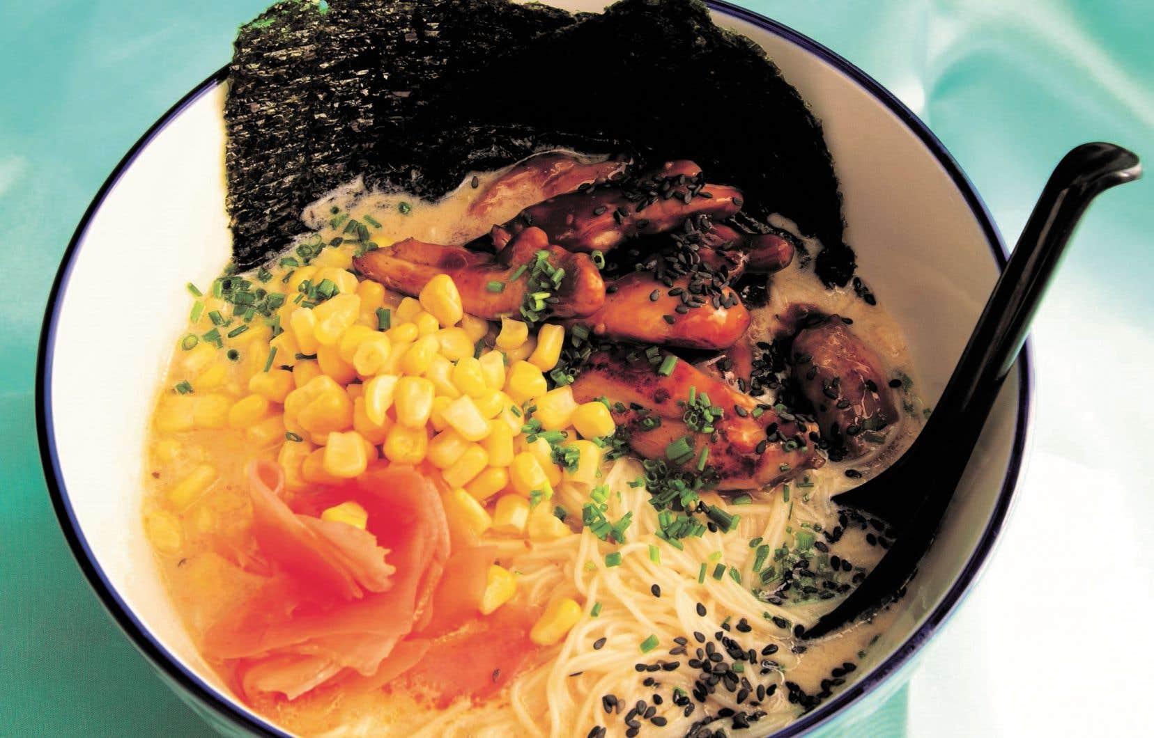 Dans son dernier livre de recettes, Geneviève Everell partage son amour pour la soupe-repas (comme sa soupe Teriyaki maïs).