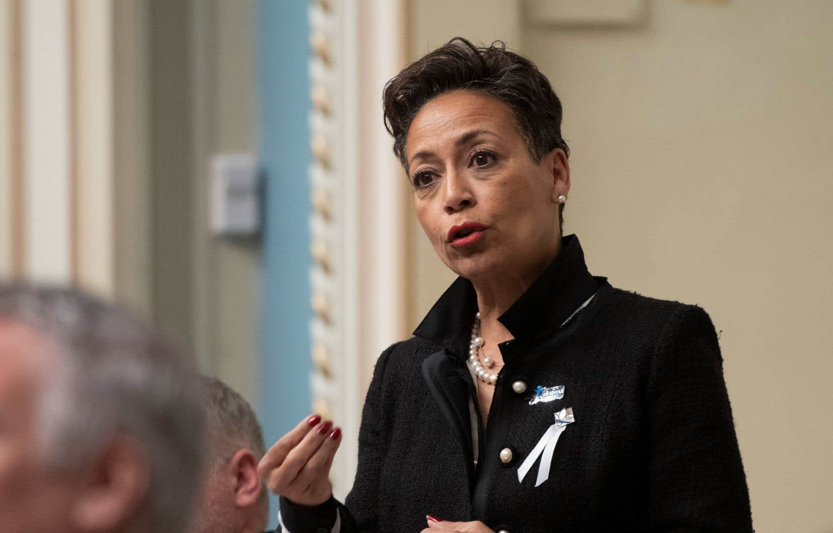 La ministre de l'Immigration, Nadine Girault