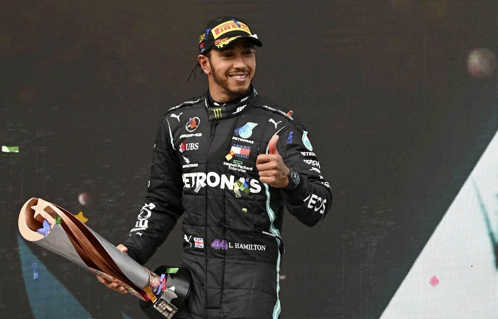 «Je sais que je dis souvent que ça dépasse mes rêves les plus fous, mais secrètement j'ai toujours rêvé d'accomplir cet exploit, a confié Lewis Hamilton après la course. [...]. En gagner un, deux ou trois, c'est tellement difficile. Sept, c'est incroyable.»