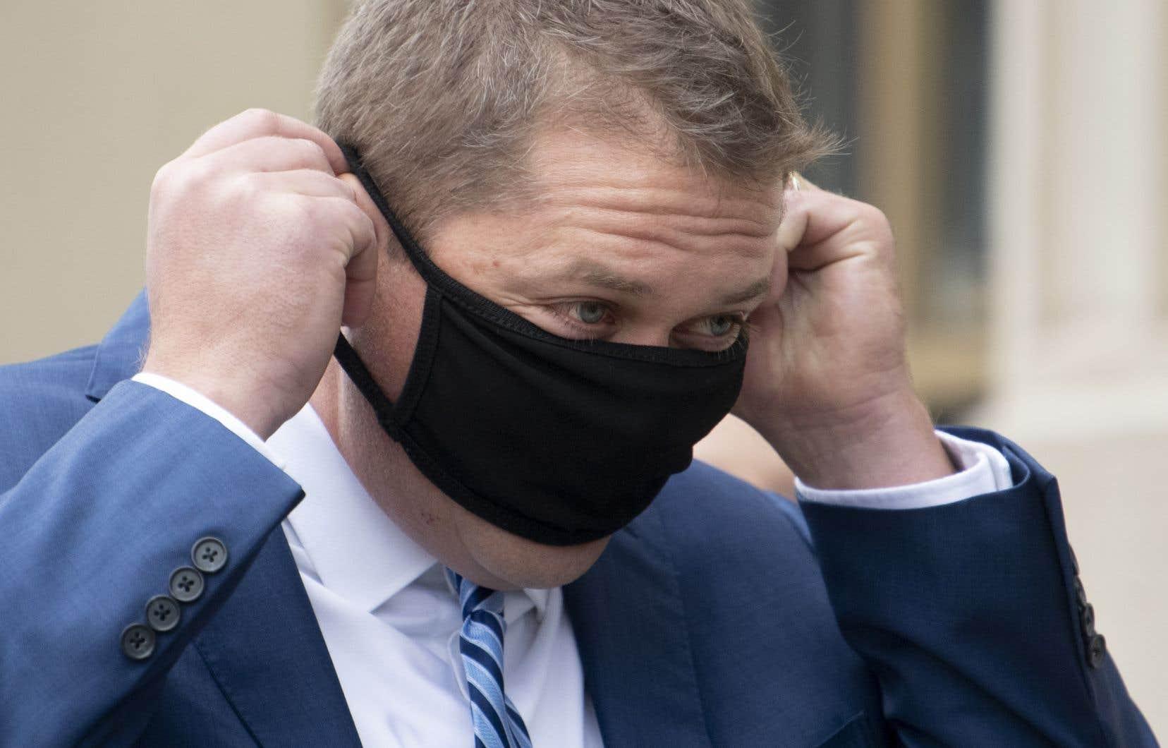 Le chef sortant du Parti conservateur, Andrew Scheer