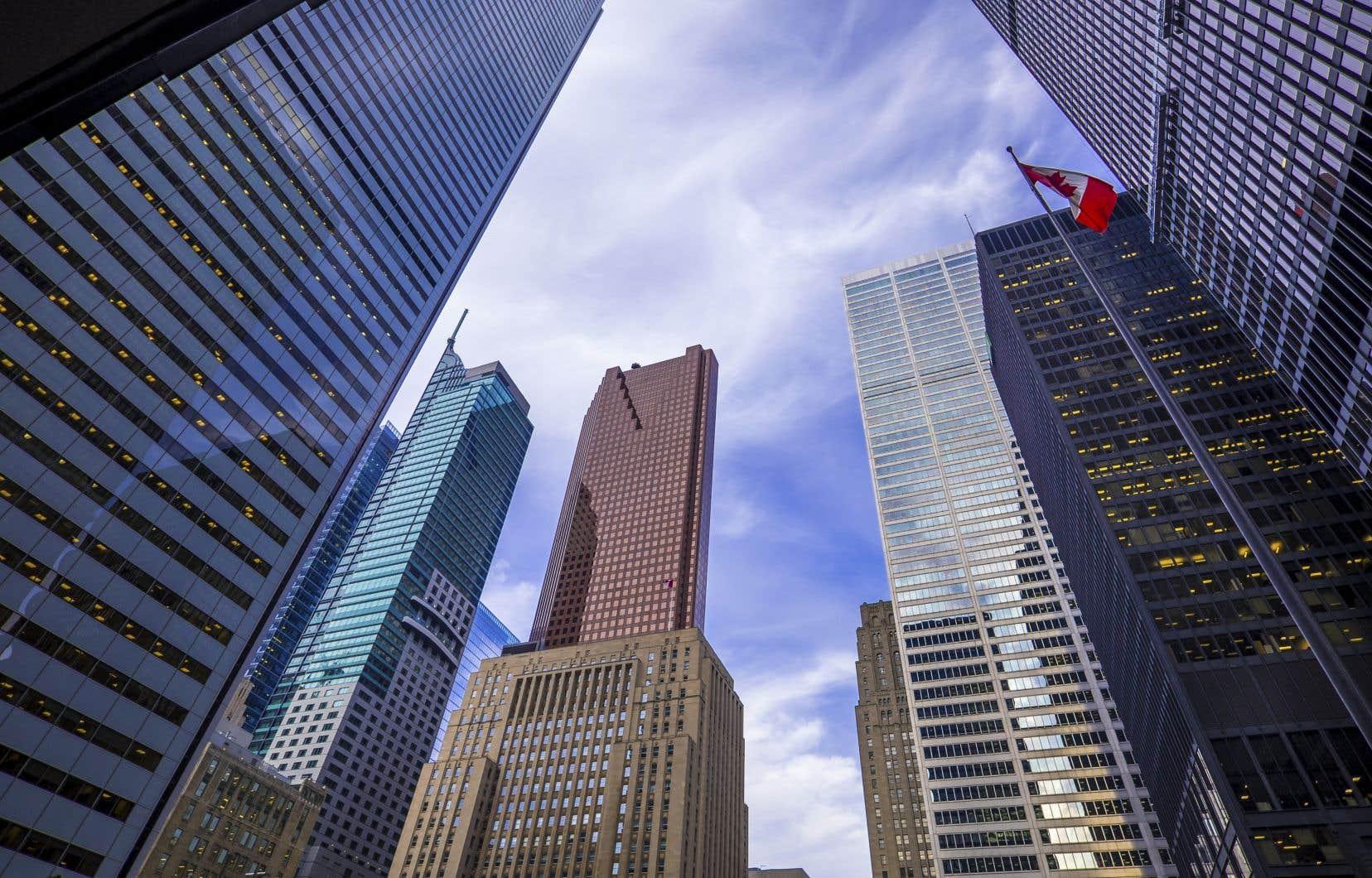 Architecture du quartier financier de Toronto