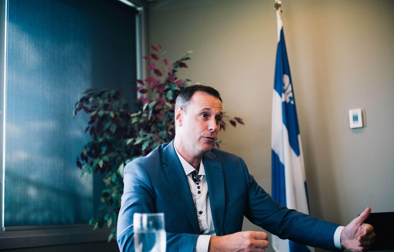Jean-François Roberge se donne encore deux ans pour faire adopter son projet de loi.