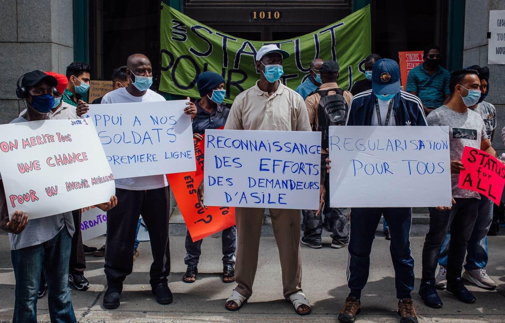 Manifestation pour un statut migratoire pour tous, en juillet dernier, à Montréal